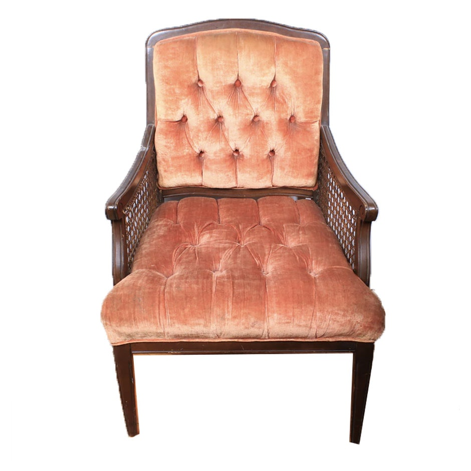 Mahogany Caned Arm Chair, Early 20th Century
