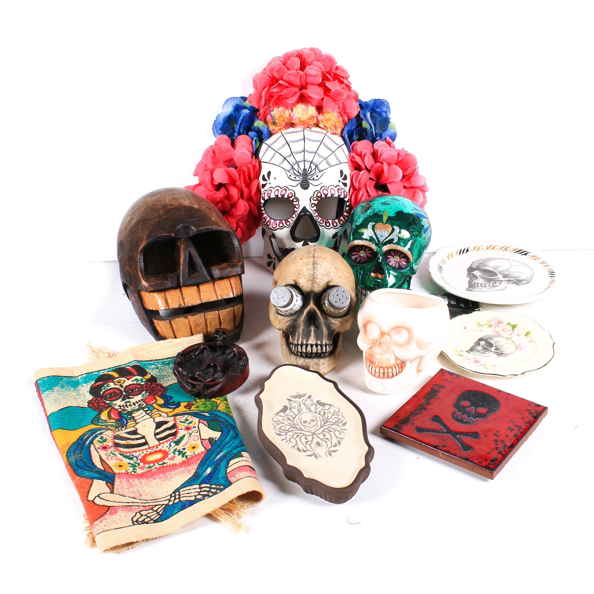 Skull Mask, Skull Mug, Skull Salt & Pepper Shaker Set and More
