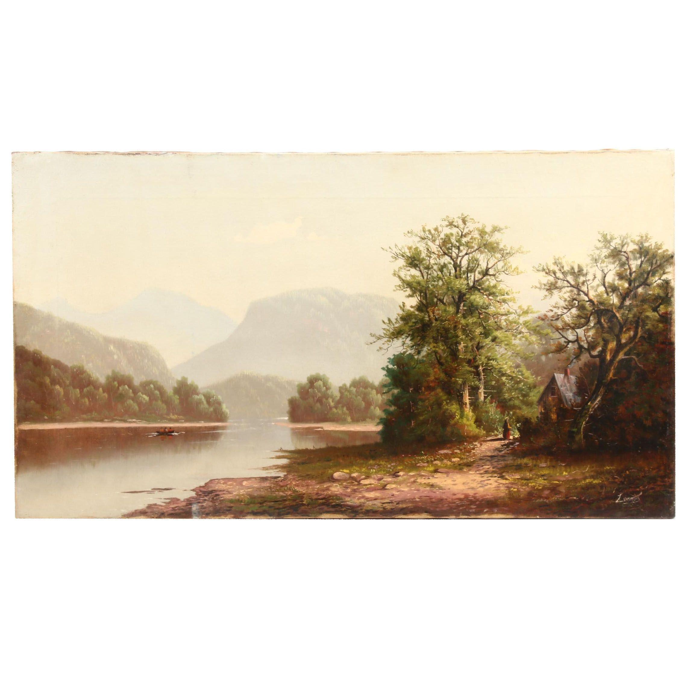 Alexander Loemans Landscape Oil Painting
