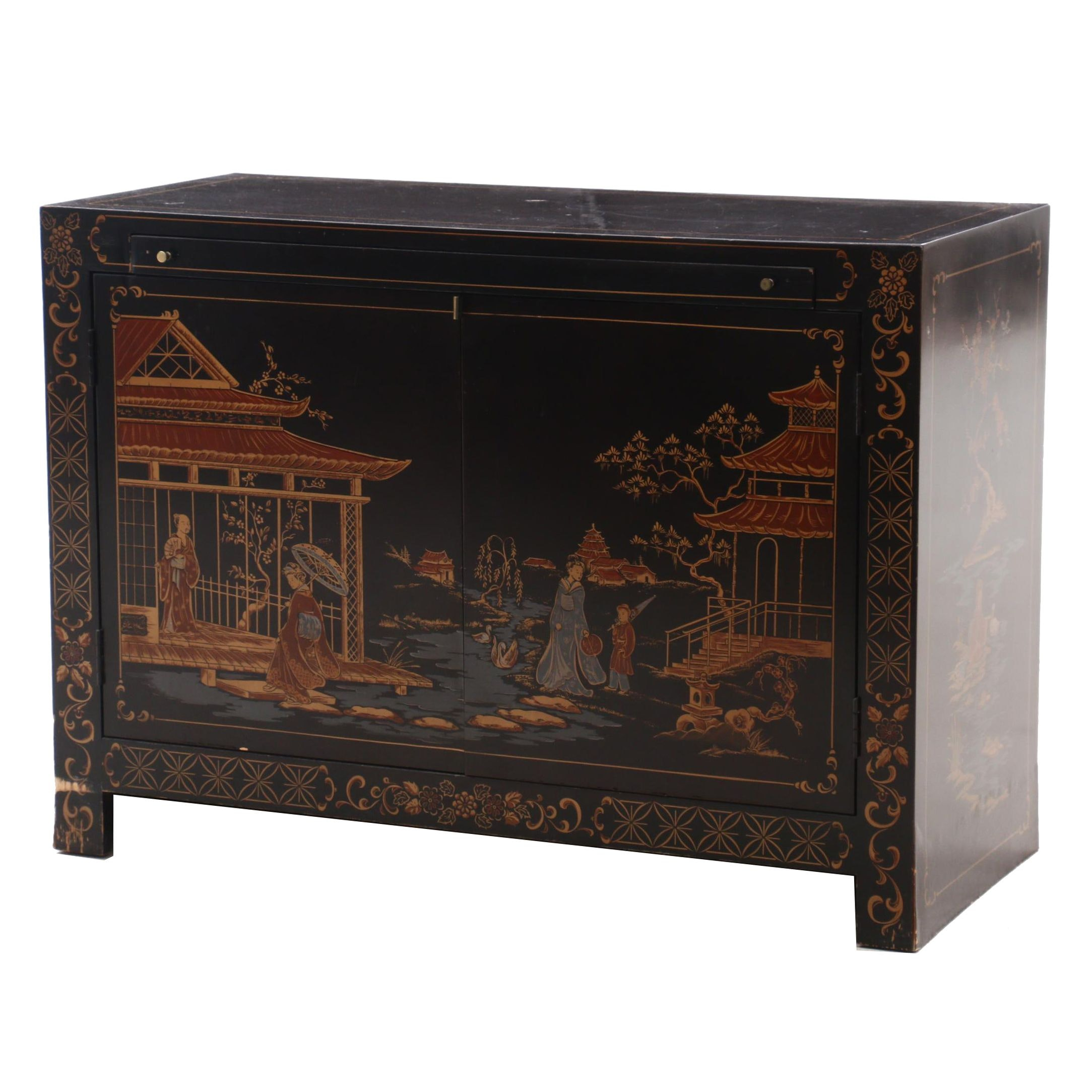 Habersham Japanese Style Lacquered Desk