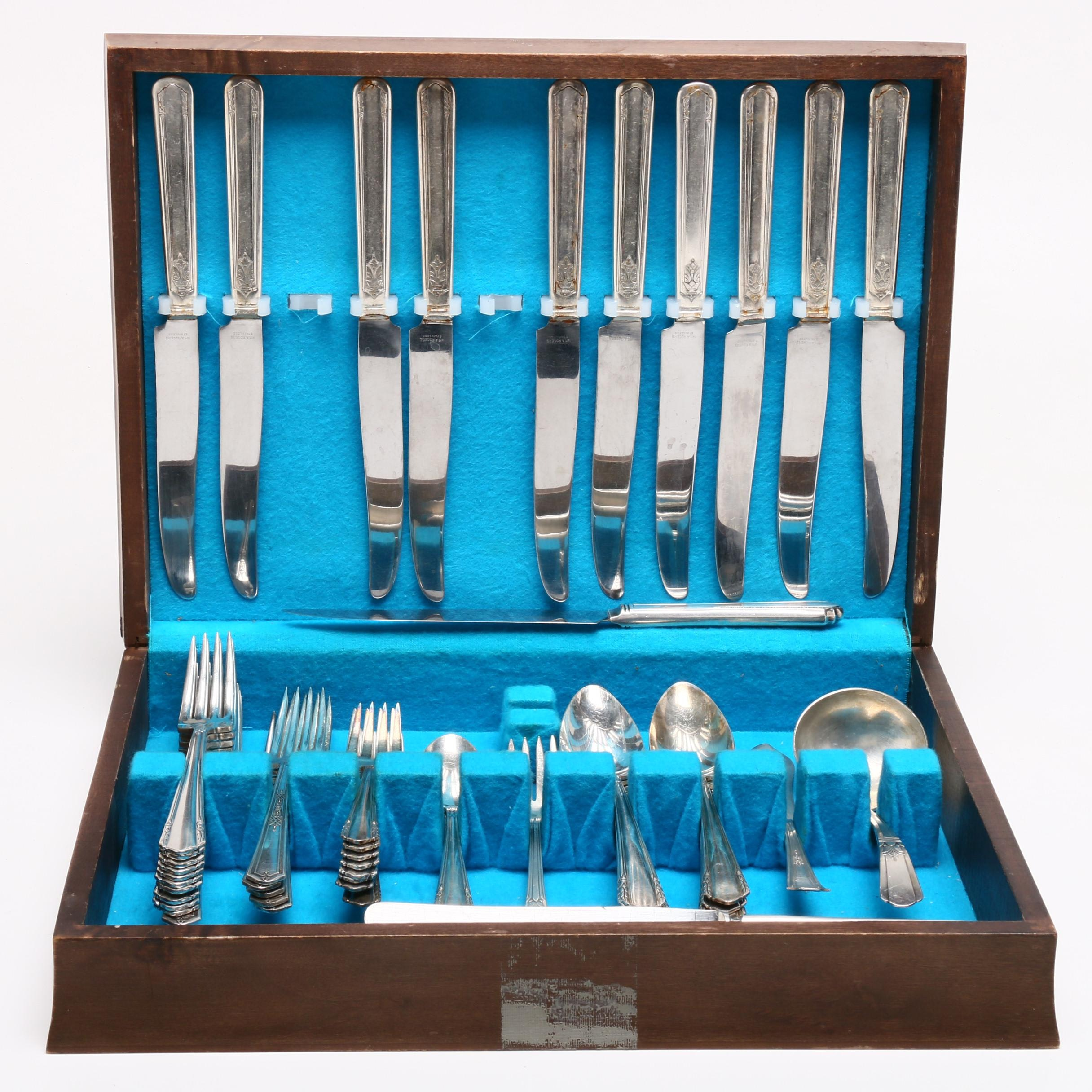 Oneida _Malibu_ and _Duchess_ and Other Silver Plate Flatware in Chest