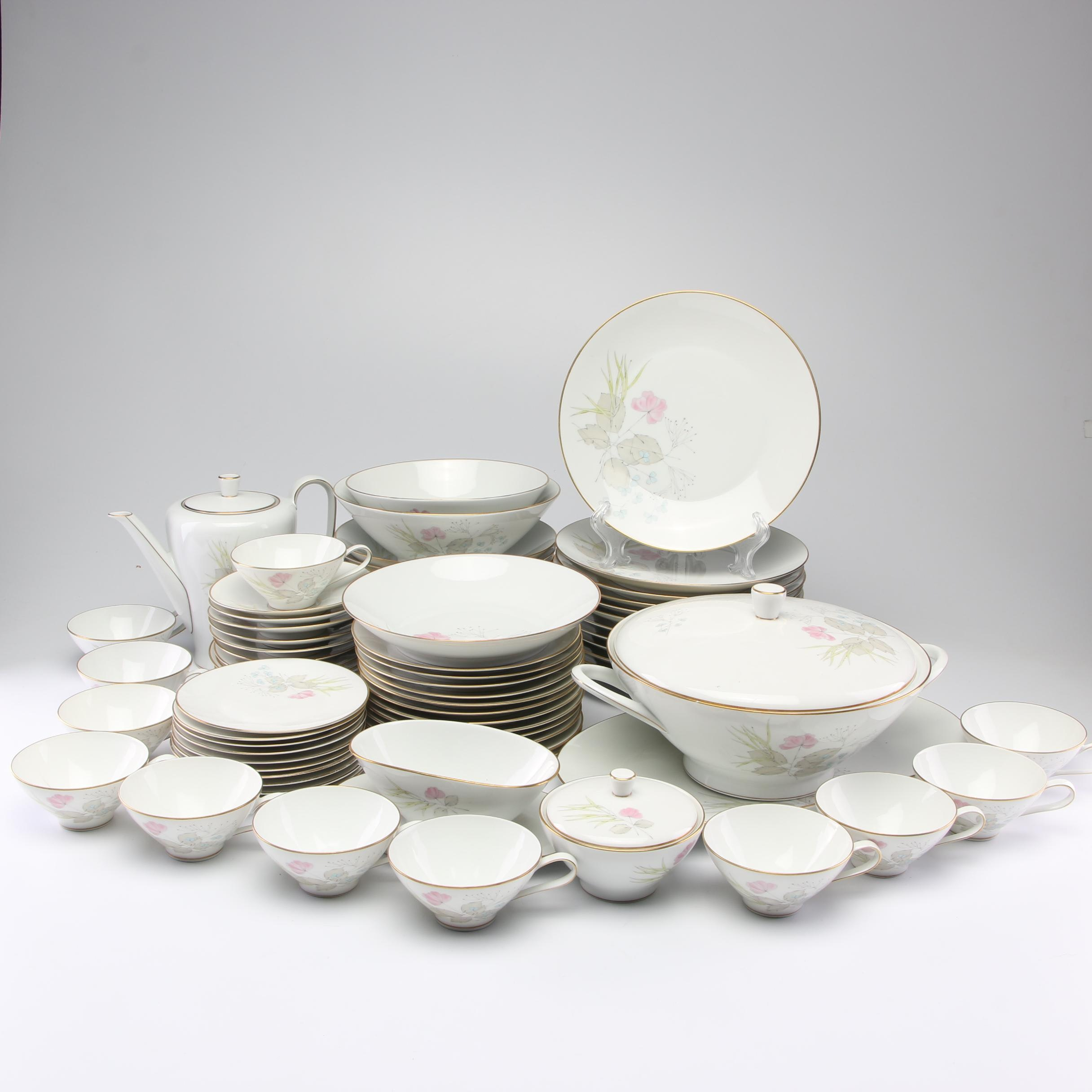 "Rosenthal Bettina ""Parisian Spring"" Porcelain Dinnerware, Circa 1950s"