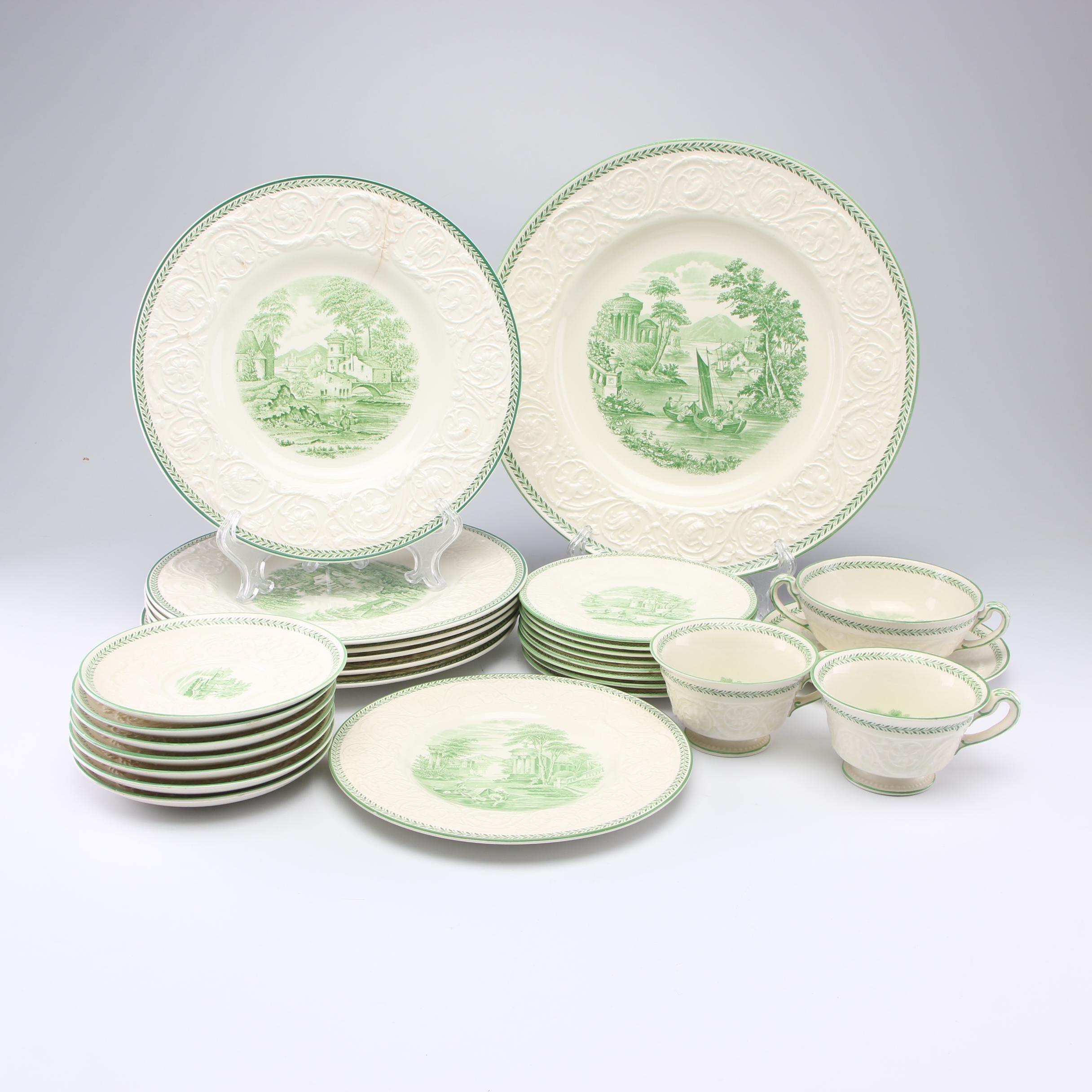 "Wedgwood ""Torbay"" Patrician Transfer-Printed Dinnerware"