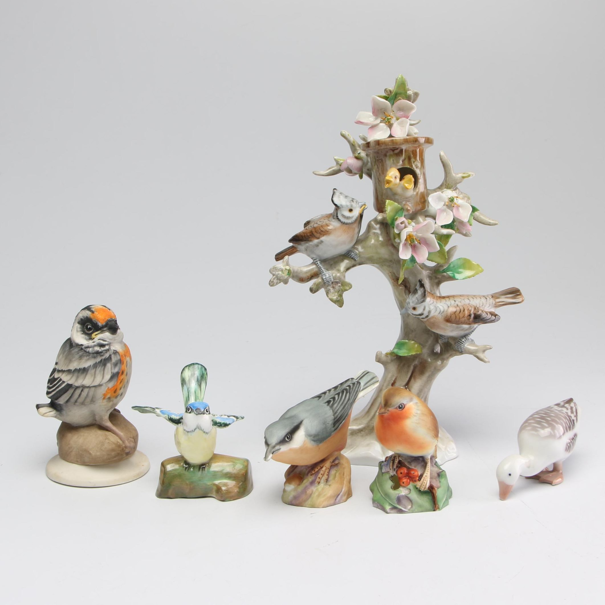 Boehm, Royal Worcester, and Other Porcelain and Ceramic Bird Figurines
