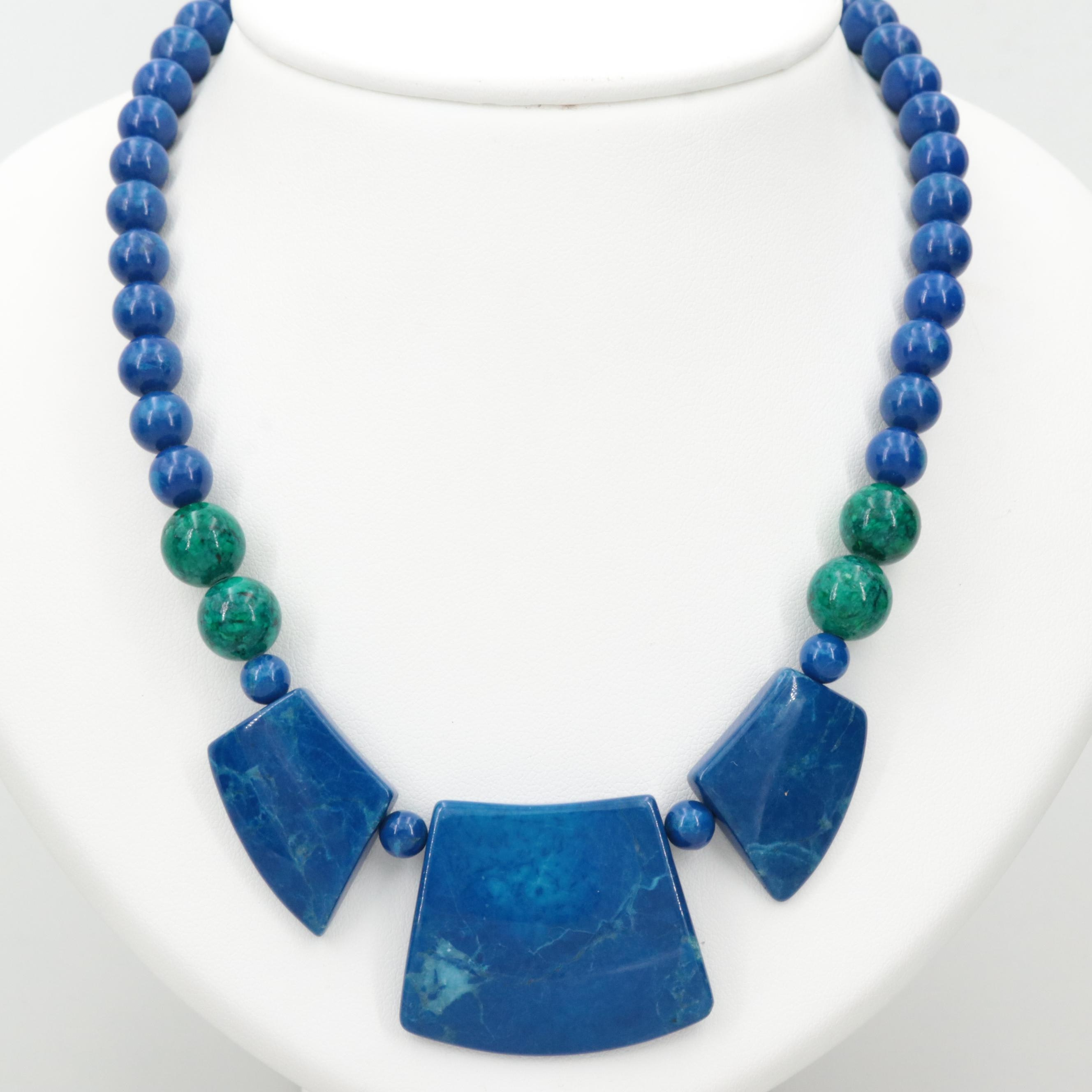 Magnesite and Calcite Beaded Necklace