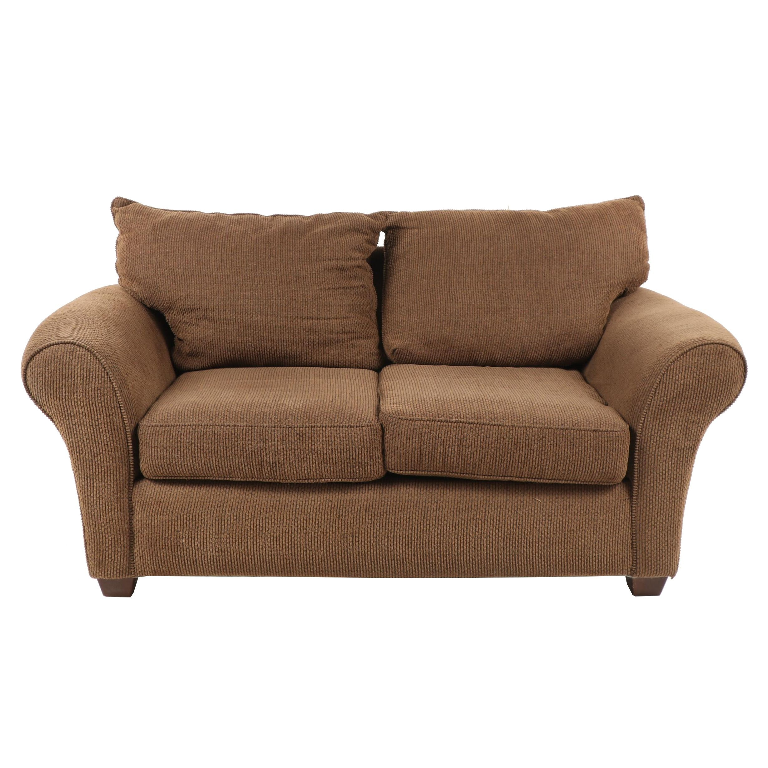 Contemporary Alan White Upholstered Loveseat Sofa