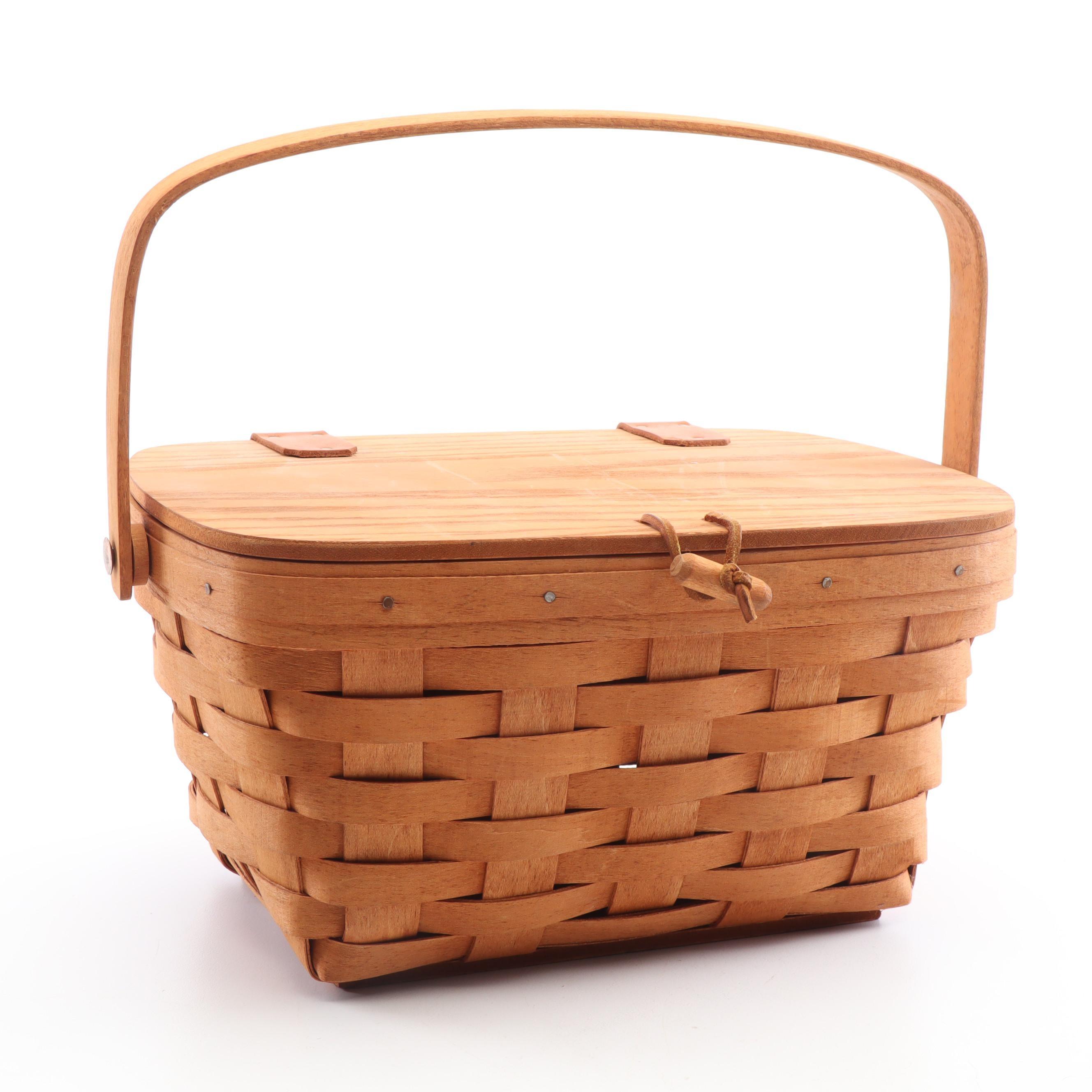 Longaberger Handwoven Handled Basket