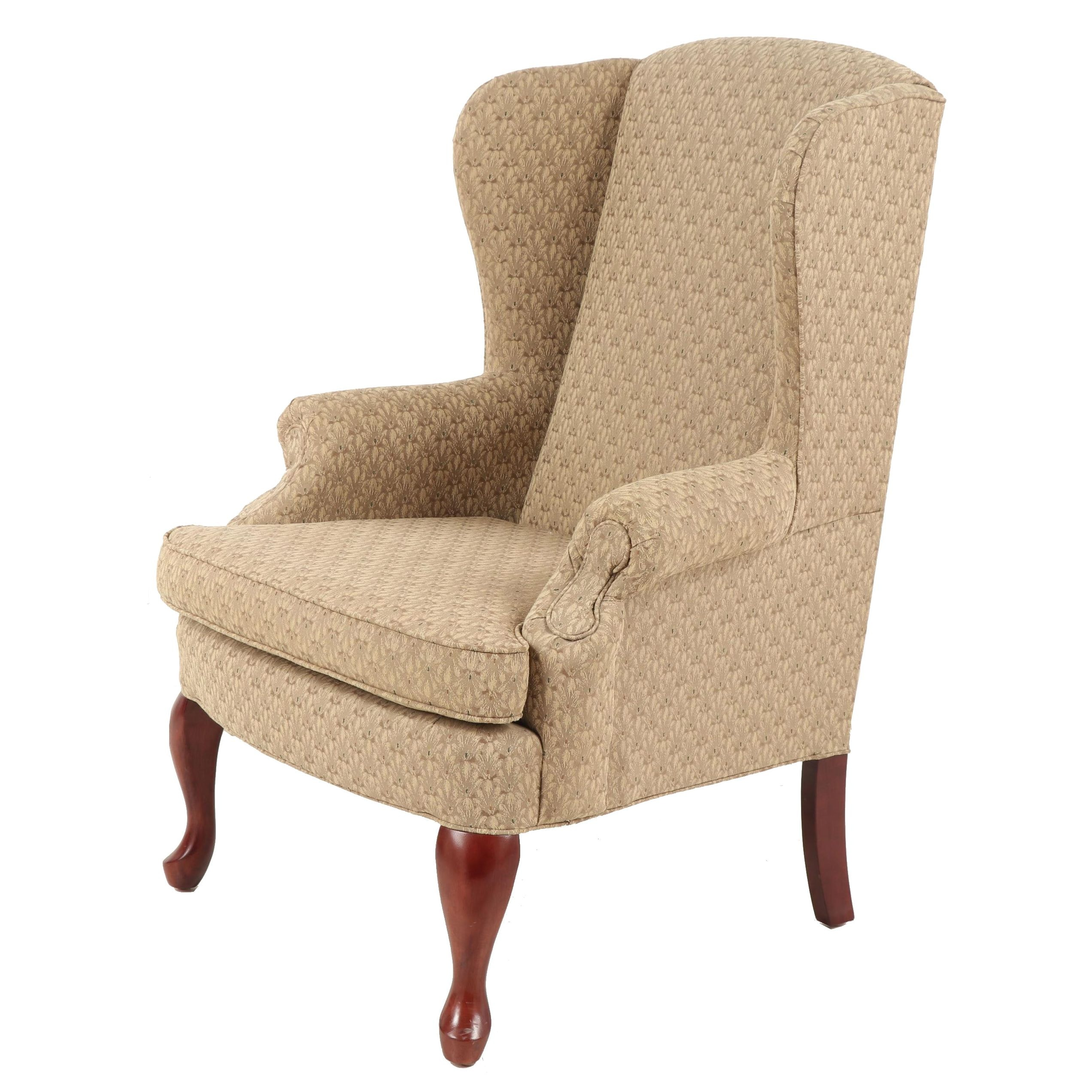 Queen Anne Style Best Chairs Company Wingback Chair, Late 20th Century