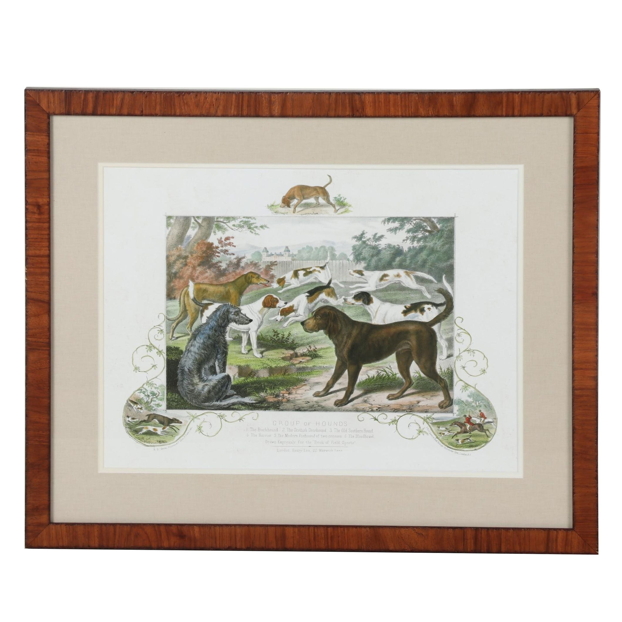 "Giclée after Charles Harvey Weigall ""Group of Hounds"""