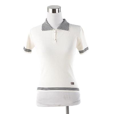 Louis Vuitton Paris Damier Collar Knit Polo Shirt