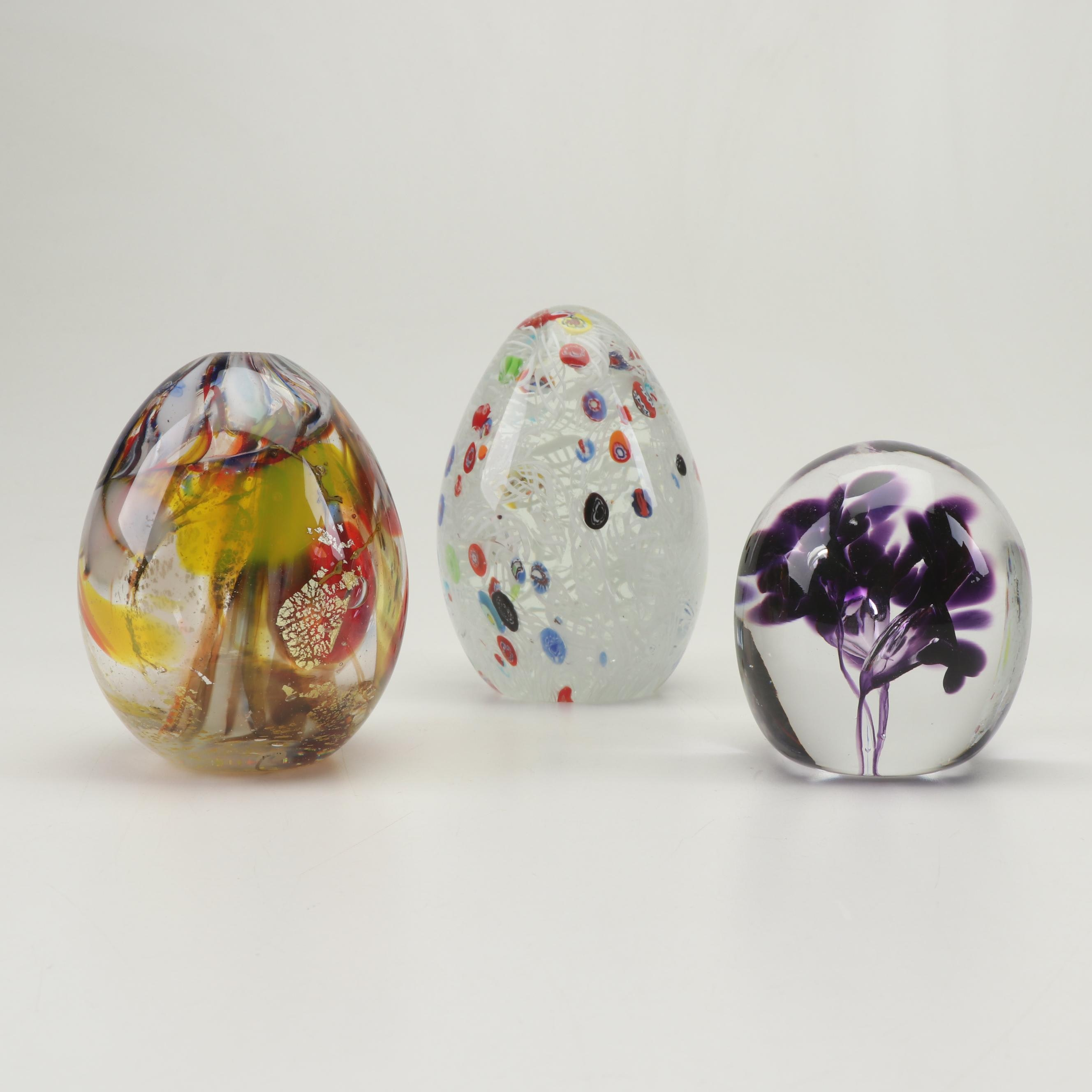 Blown Art Glass Paperweights