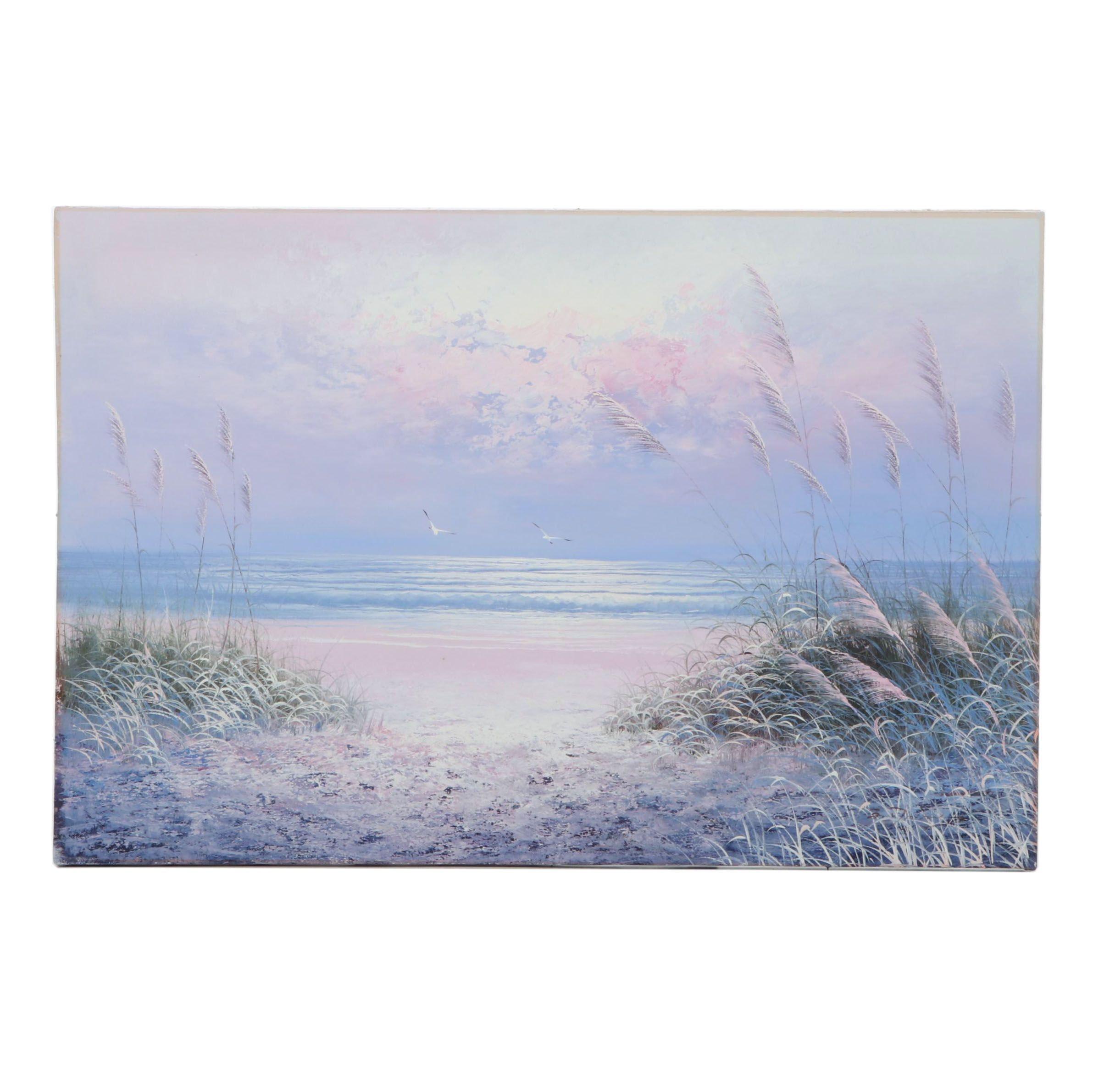 Coastal Landscape Oil Painting