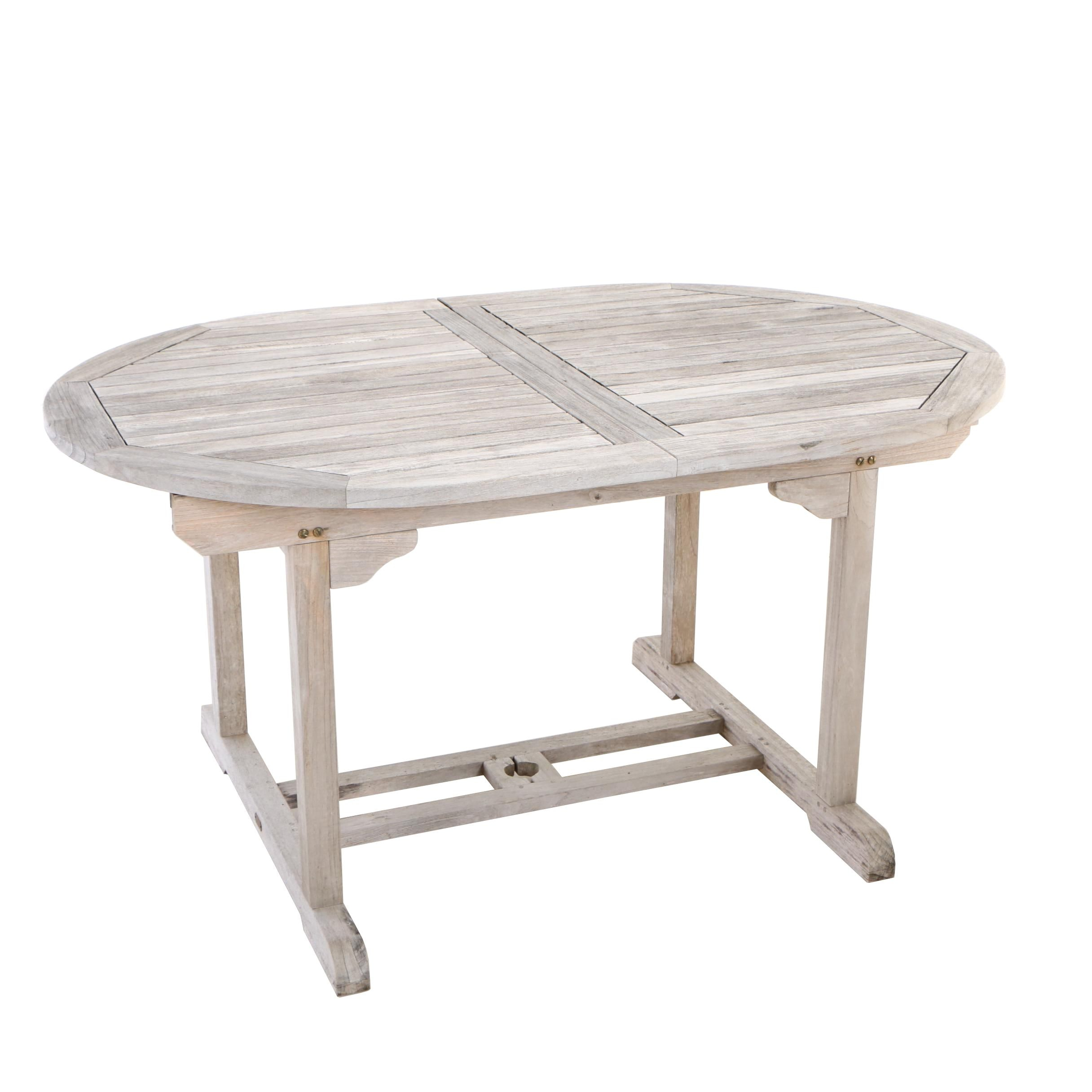"""""""Vintage Country Hills"""", Teak Extending Patio Dining Table"""