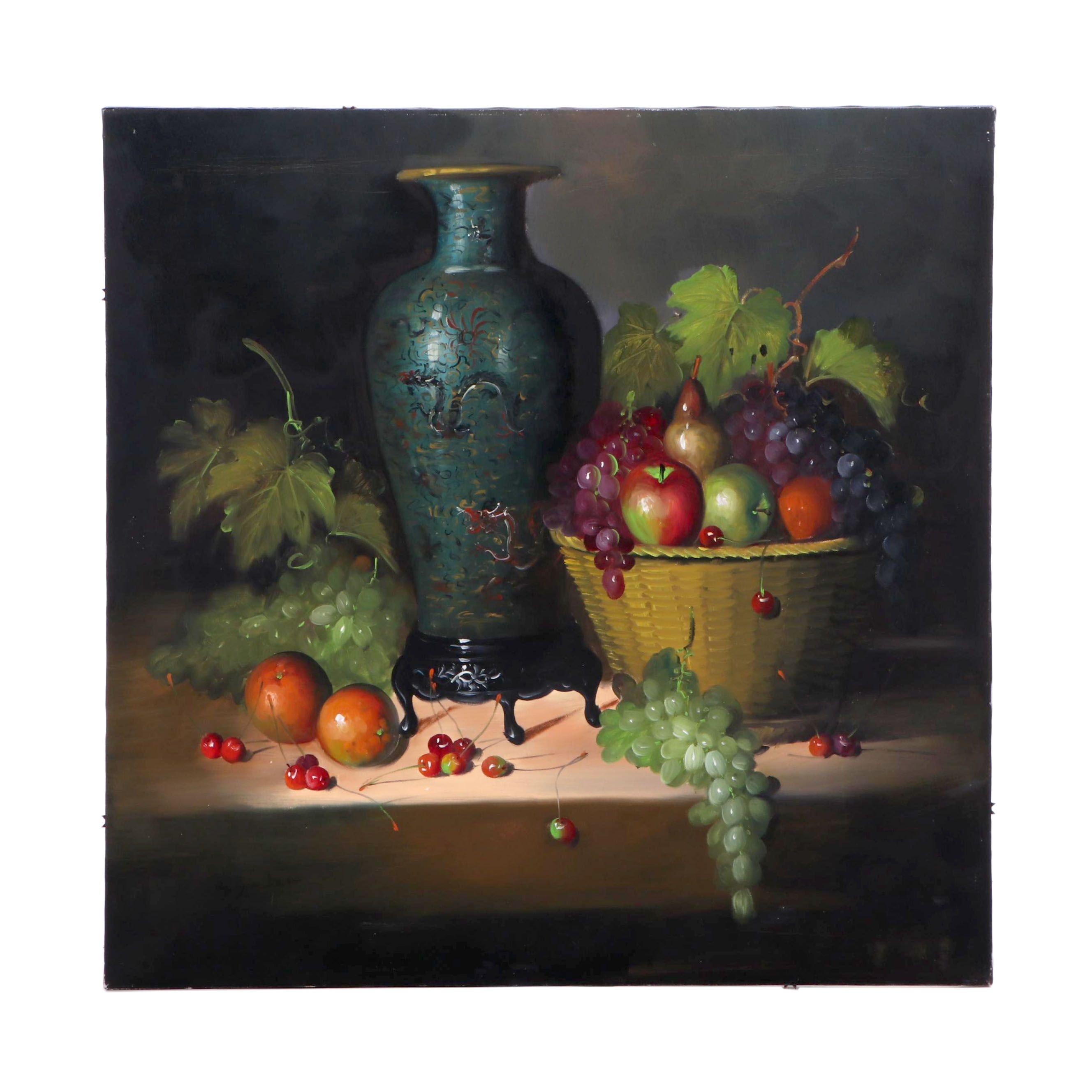 Frank Jeam Still Life Oil Painting
