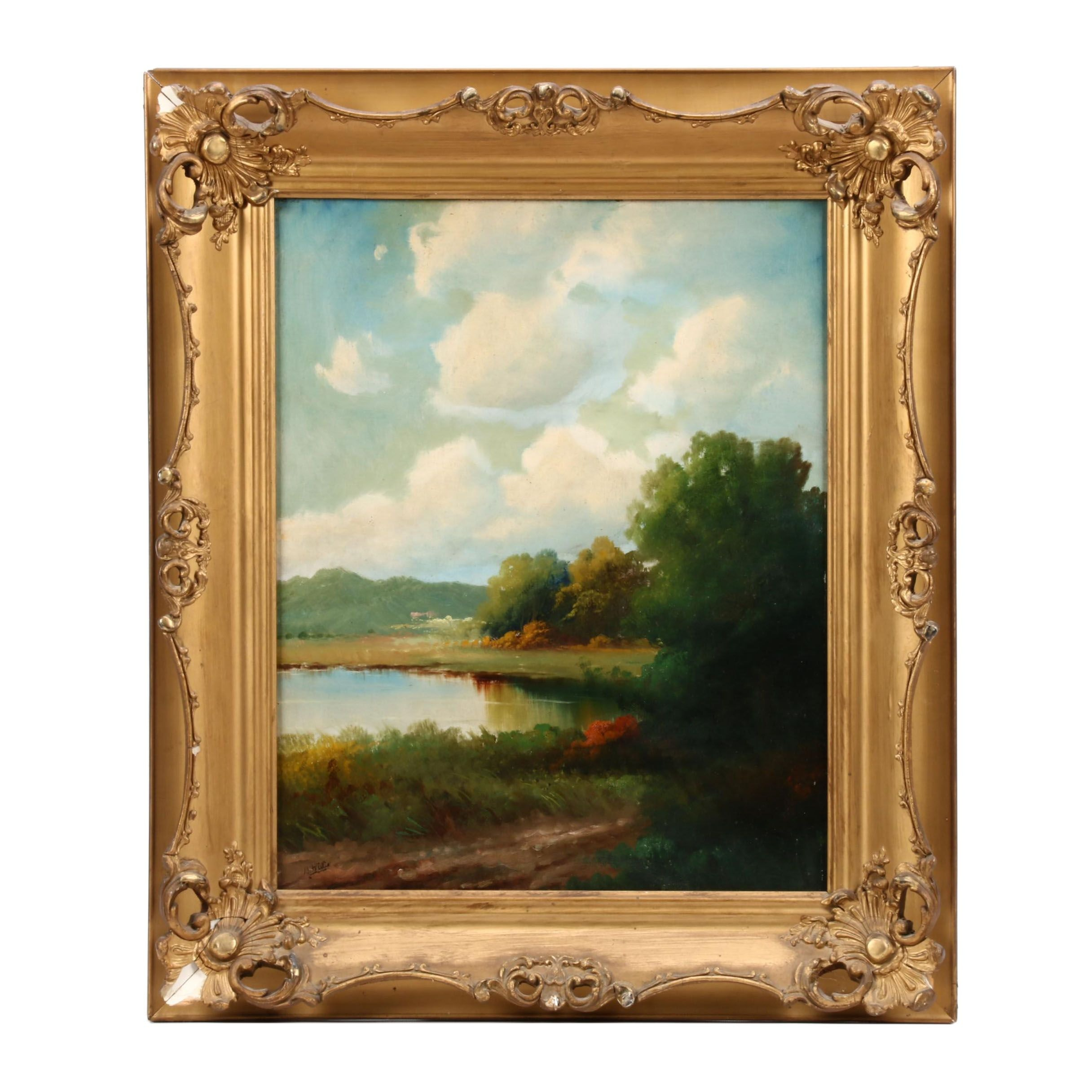 Bailey Willis Oil Landscape Painting
