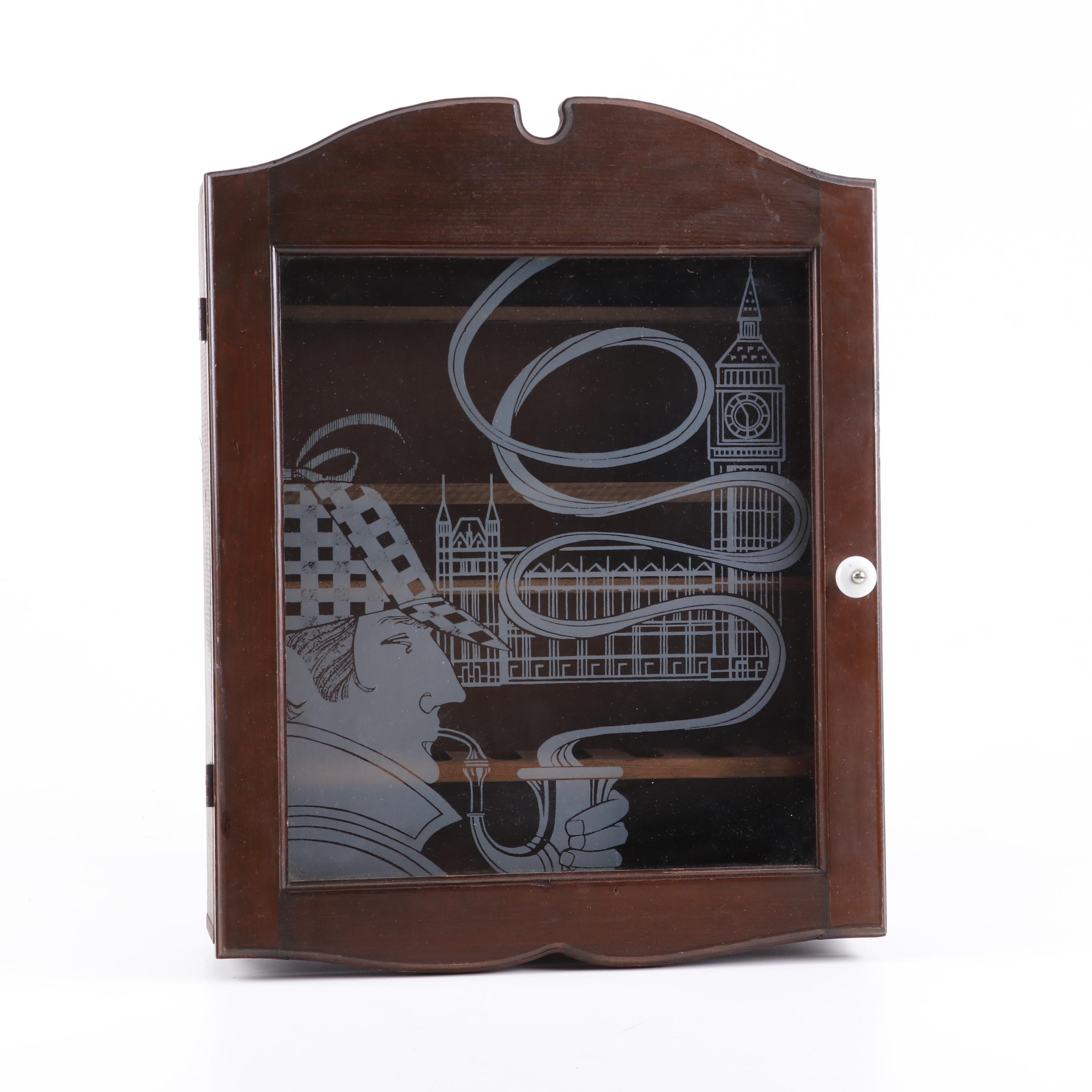 Sherlock Holmes Smoking Pipe Display Cabinet
