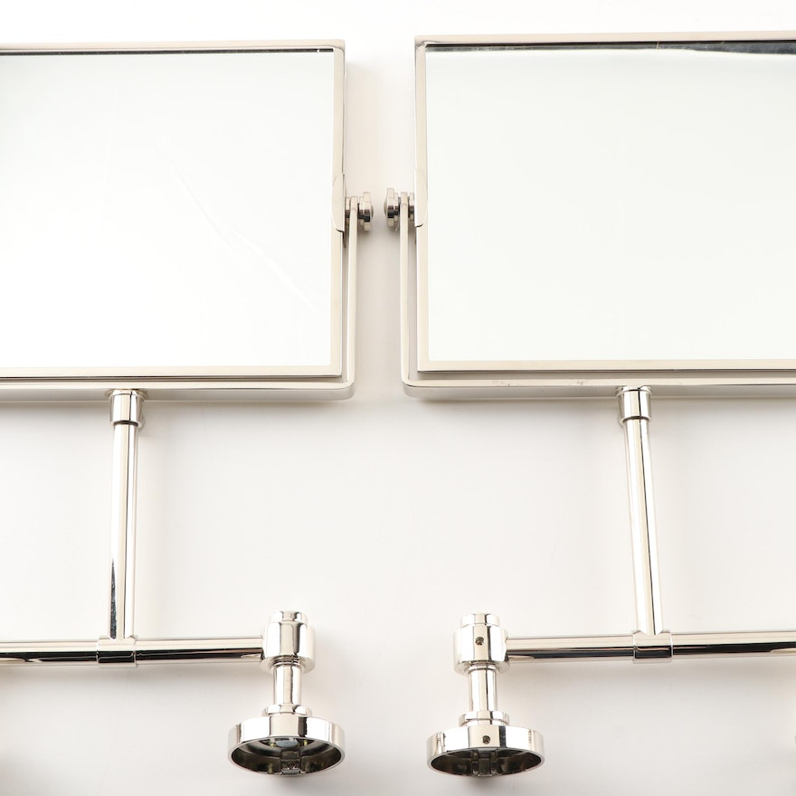 """Restoration Hardware """"Grafton"""" Small Wall Mirrors With ..."""