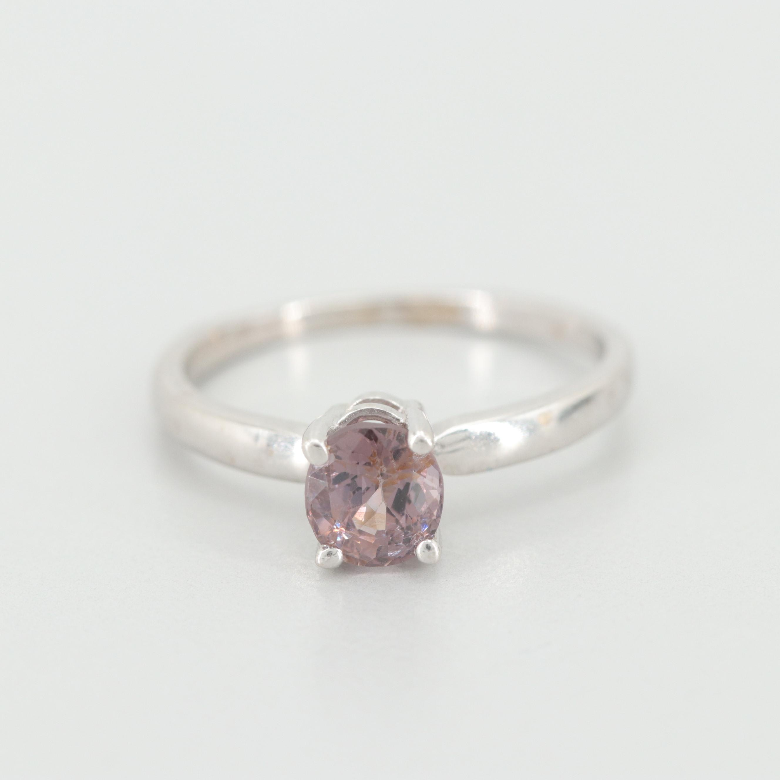 14K White Gold Spinel Solitaire Ring