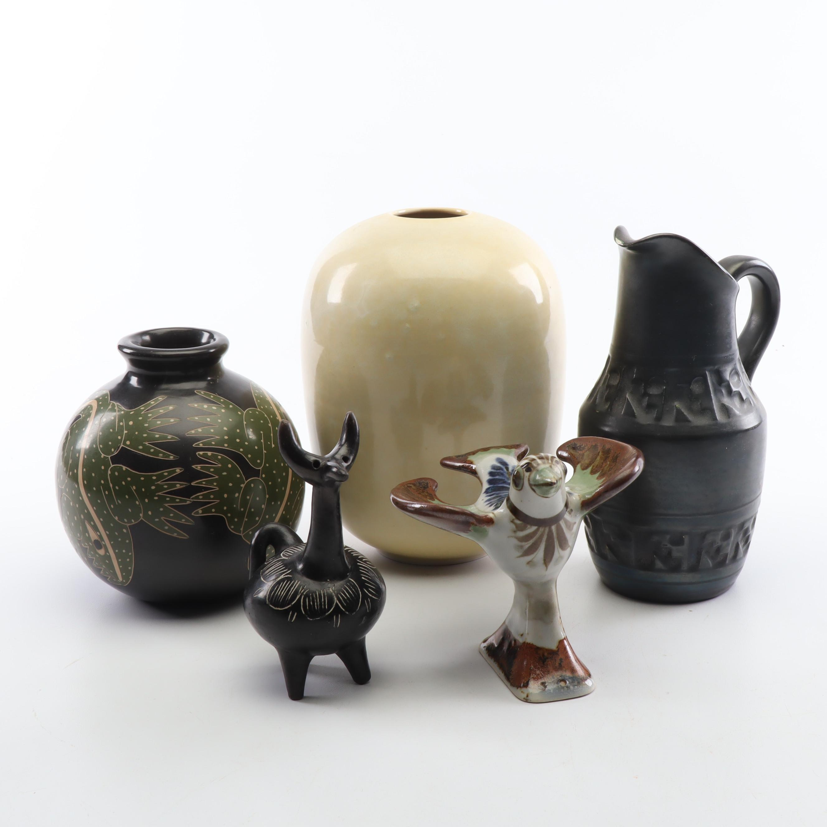 South American and Mexican Pottery Decor by Juan Paulino Martinez and More