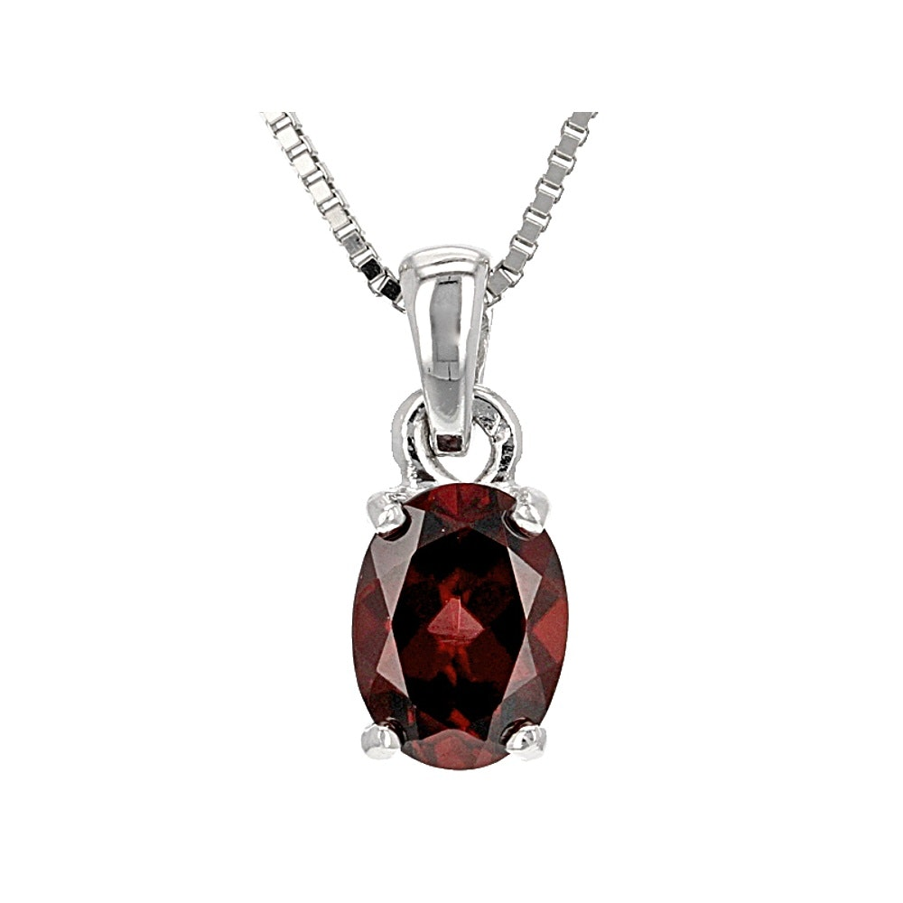 Sterling Silver Zircon Pendant with Chain
