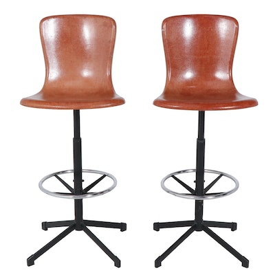 Hamilton Cosco Fiberglass and Metal Swivel Bar Stools, circa 1960's