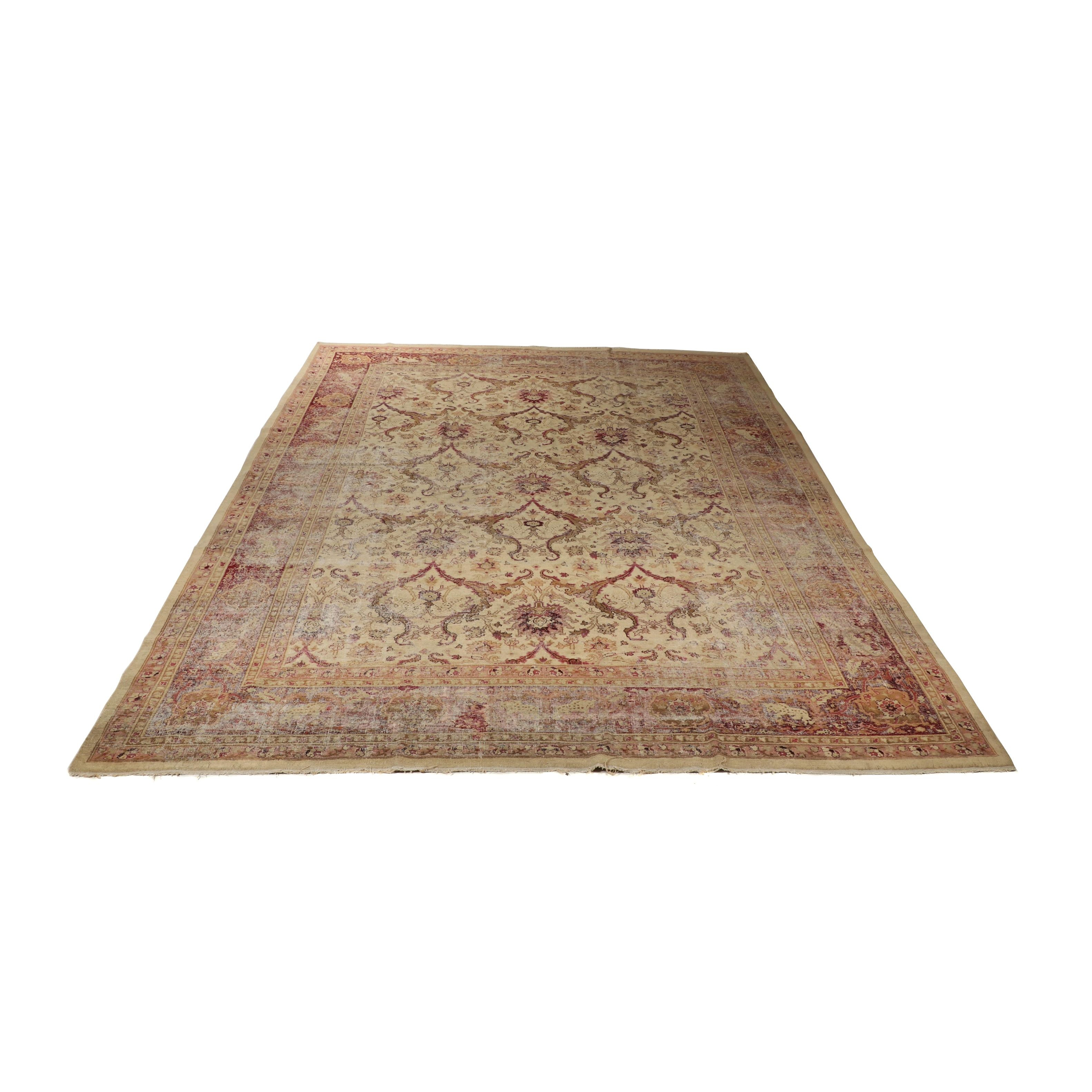 Hand-Knotted Indian Chobi Wool Room Sized Rug