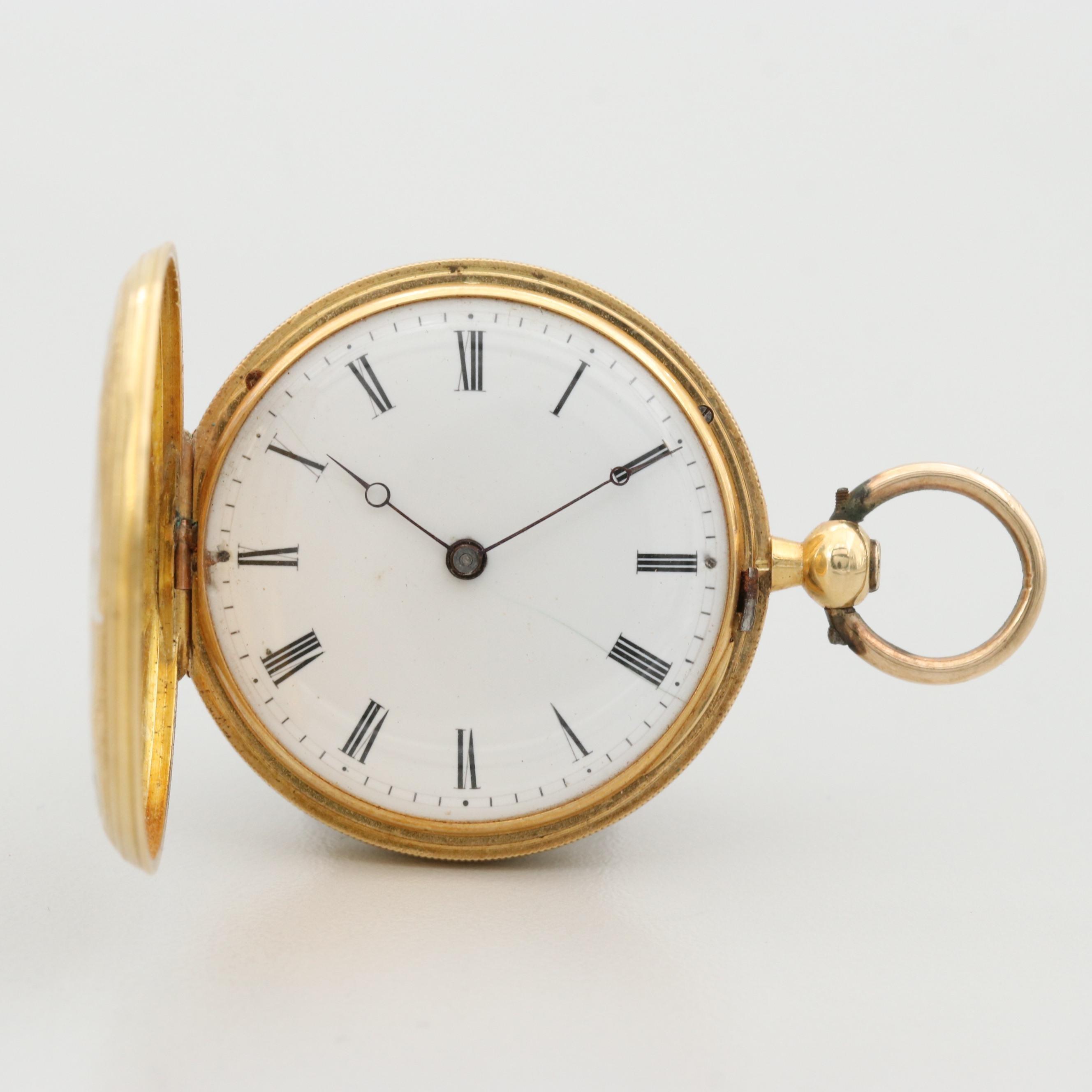 Vacheron & Constantin 18K Gold and Enamel Pocket Watch