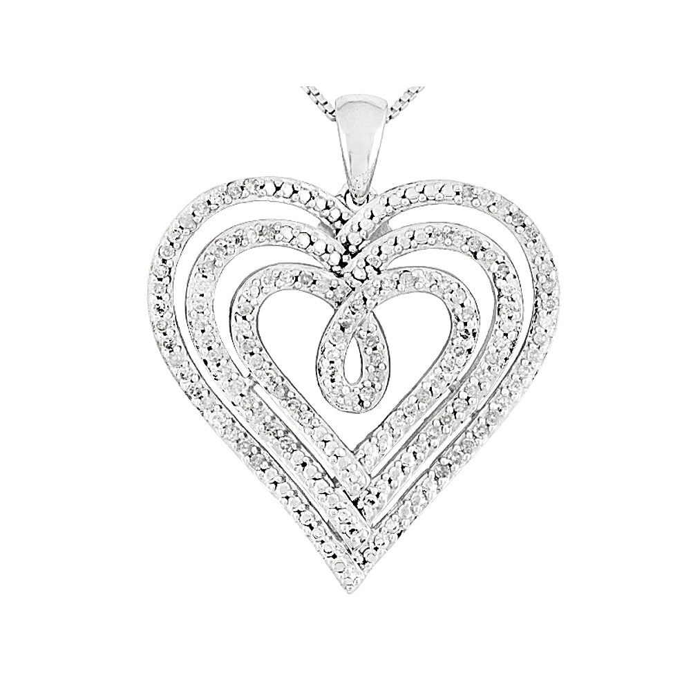 Sterling Silver Diamond Pendant with Chain