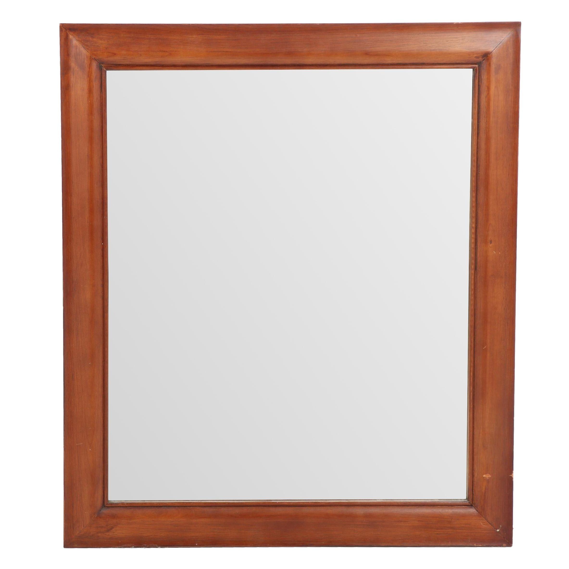 Contemporary Wooden Wall Mirror