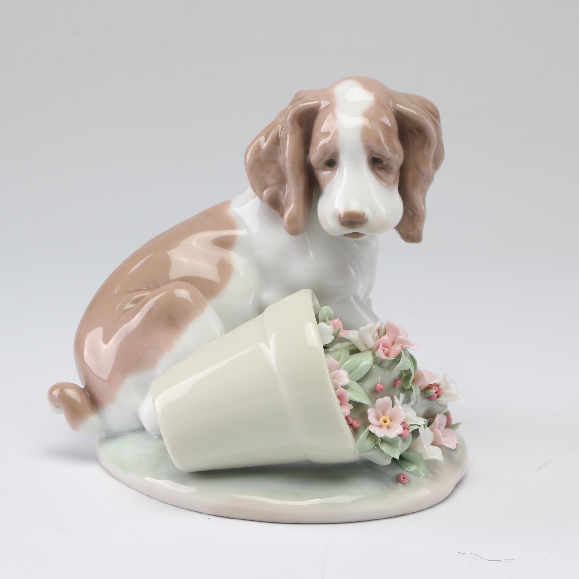 """Lladró """"It Wasn't Me"""" Porcelain Figurine, 1990s"""