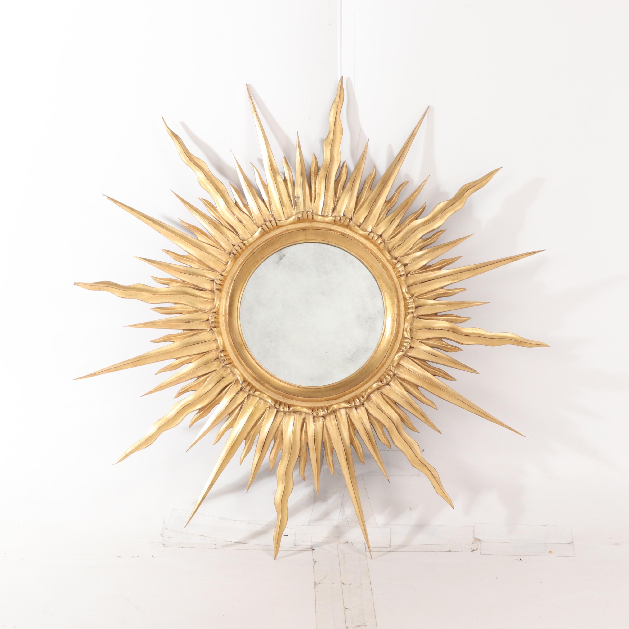 Gilt Sunburst Wall Mirror