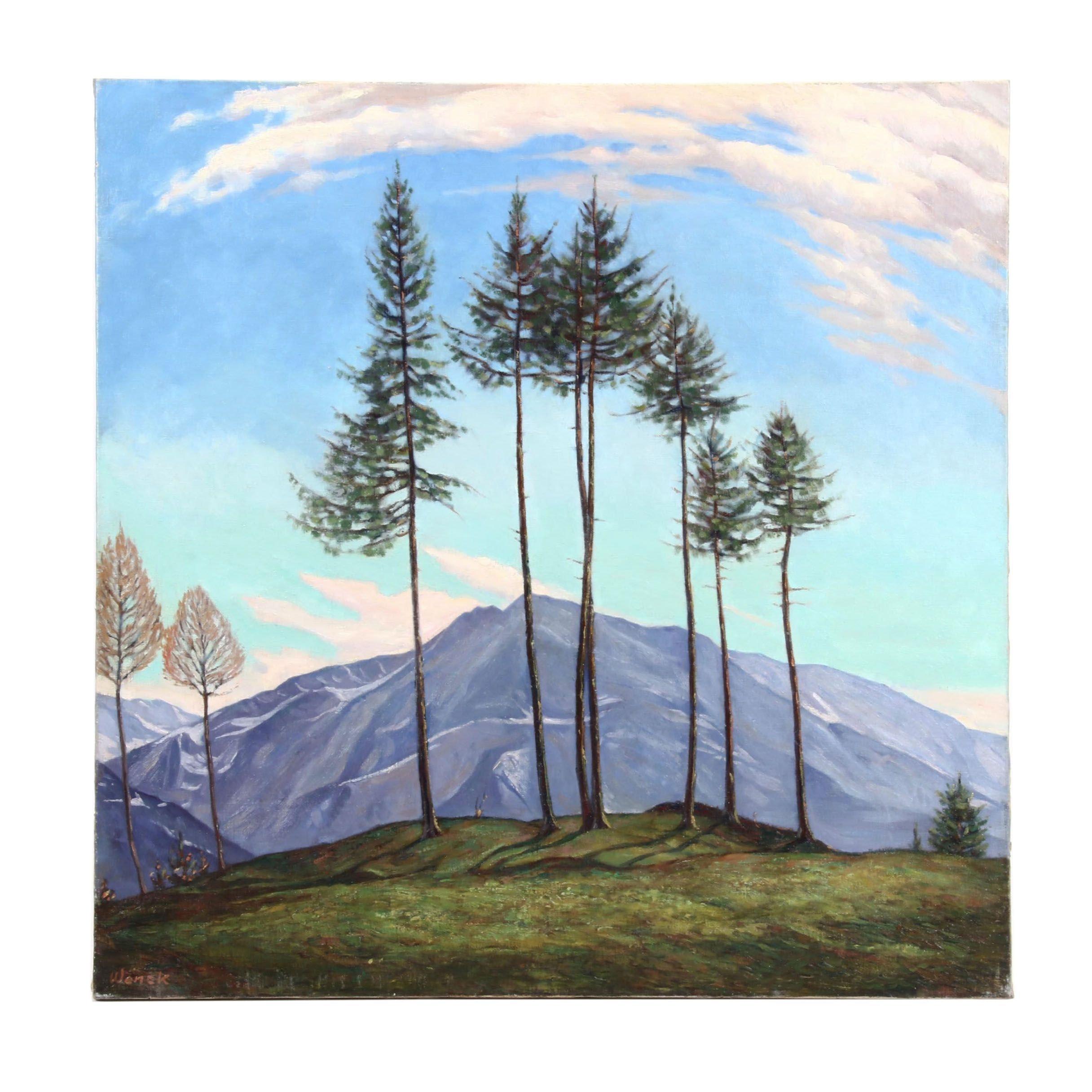 Mountainous Landscape Oil Painting