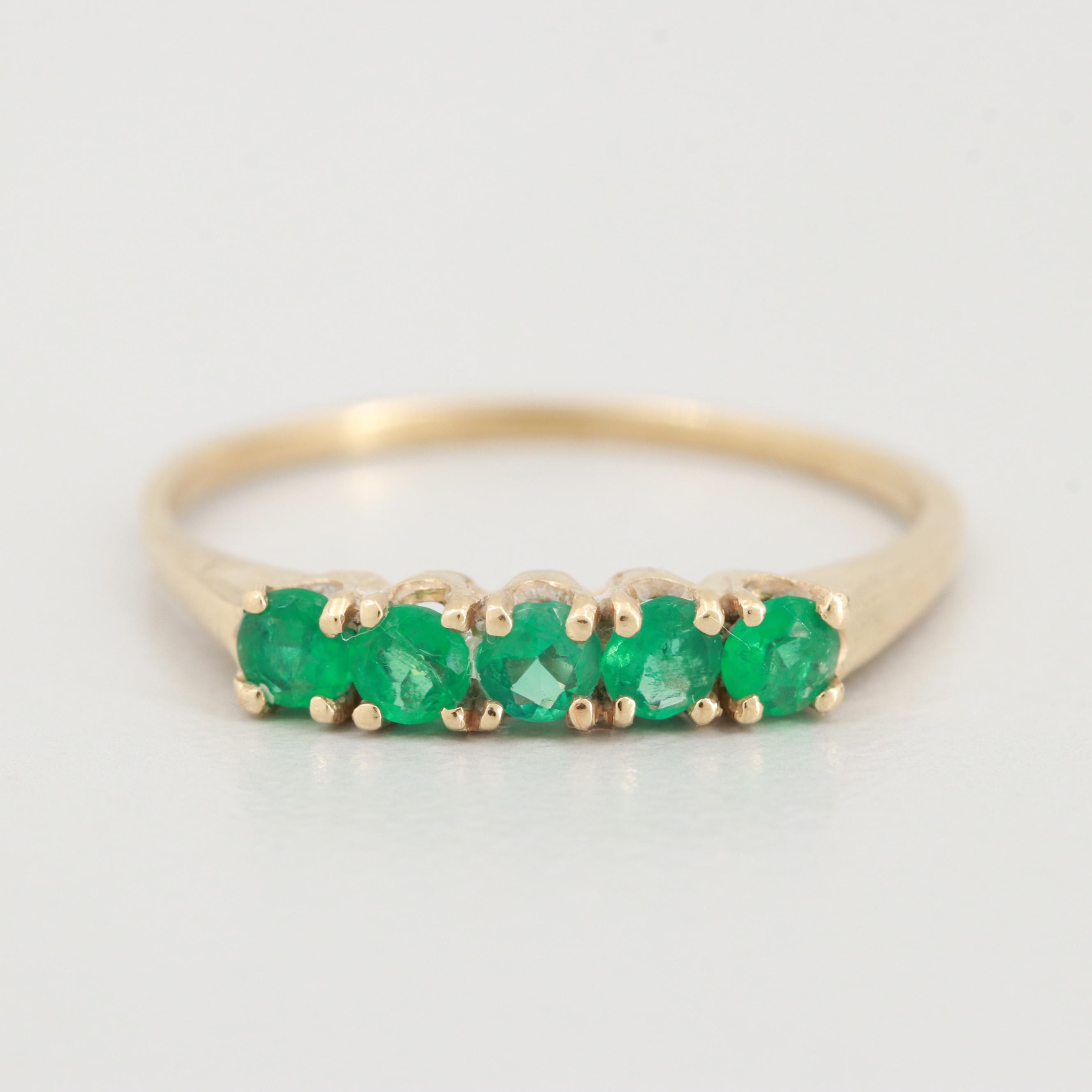 18K Yellow Gold Emerald Ring