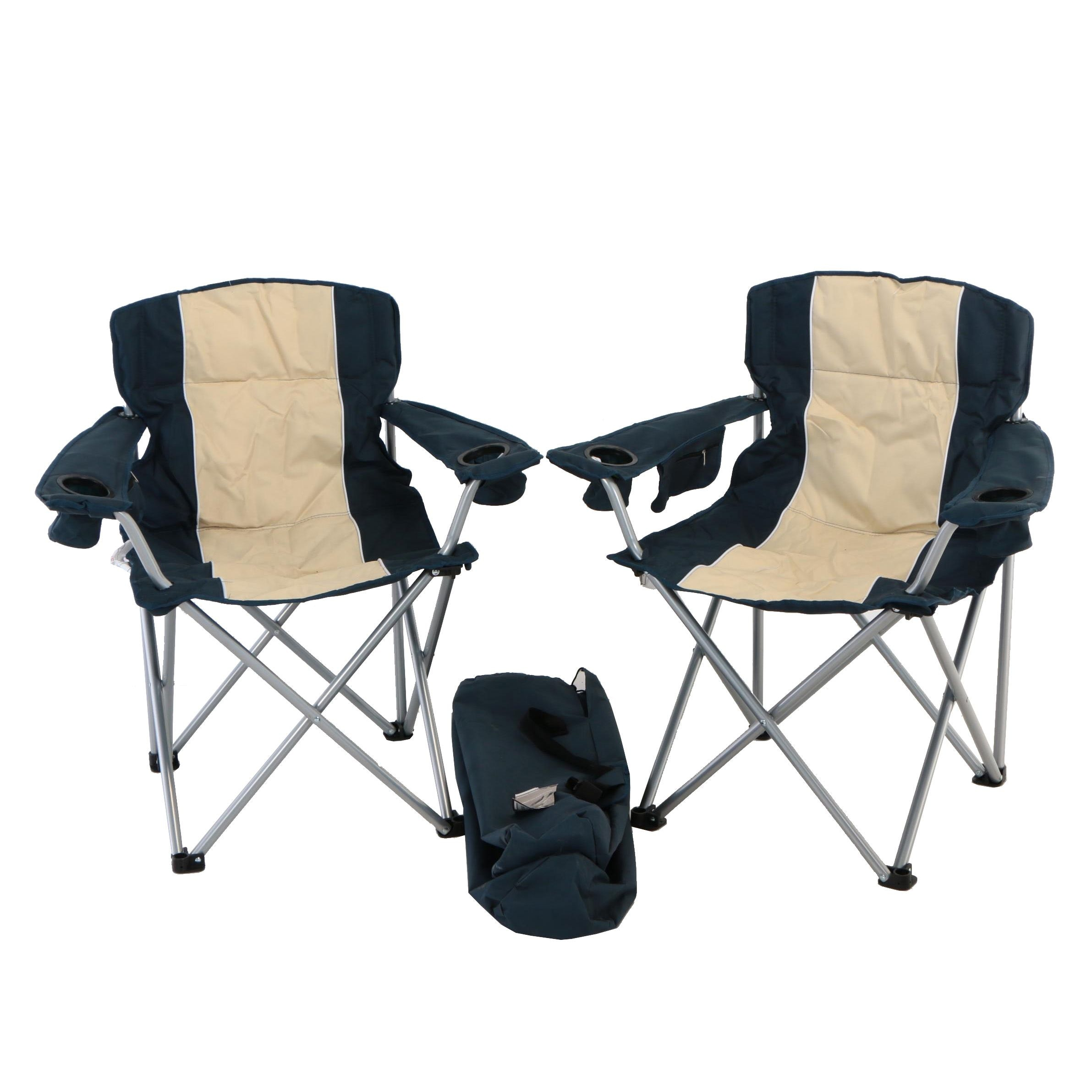 Pair of Oversized Folding Bag Chairs