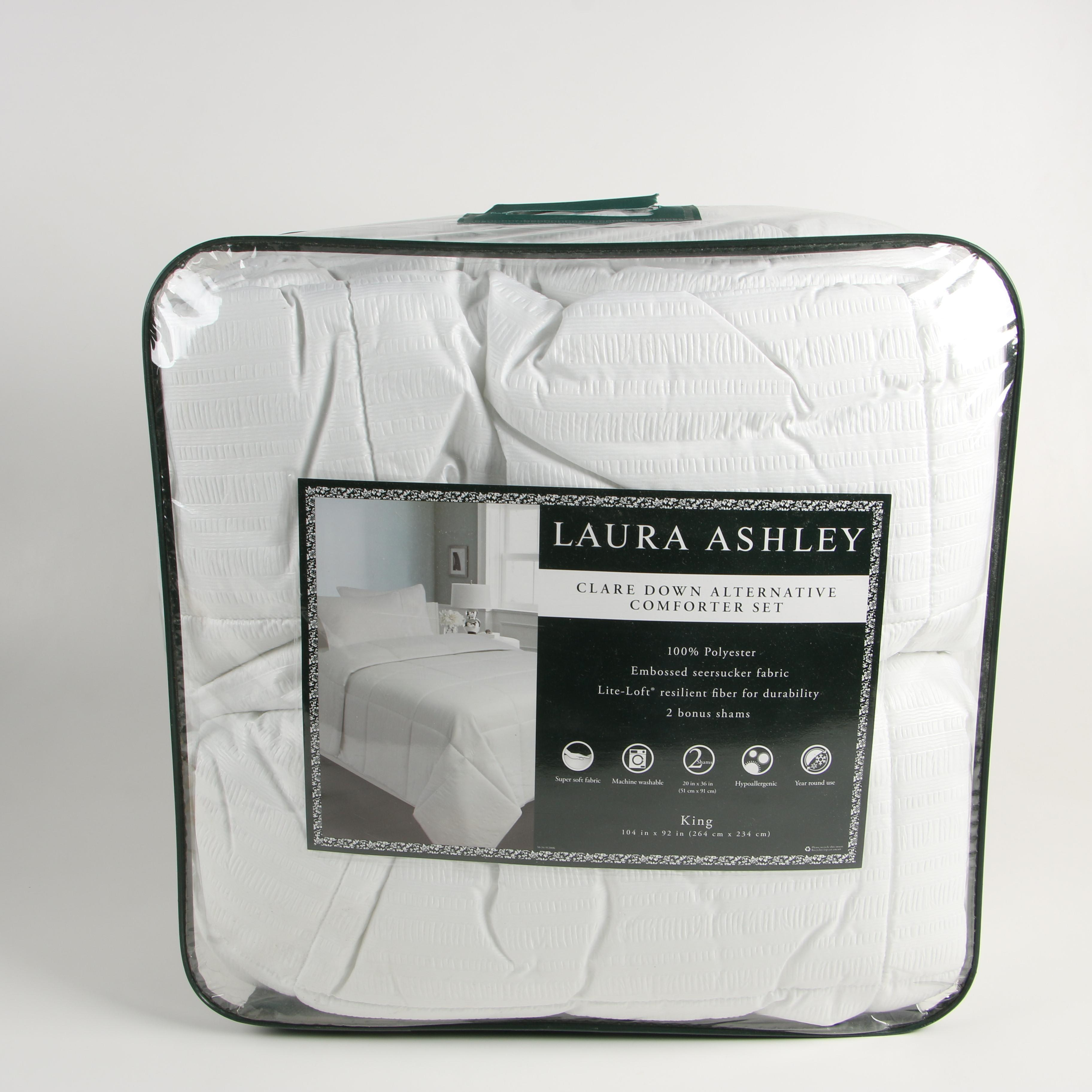 Laura Ashley King-Sized Clare Down Alternative Comforter with Shams