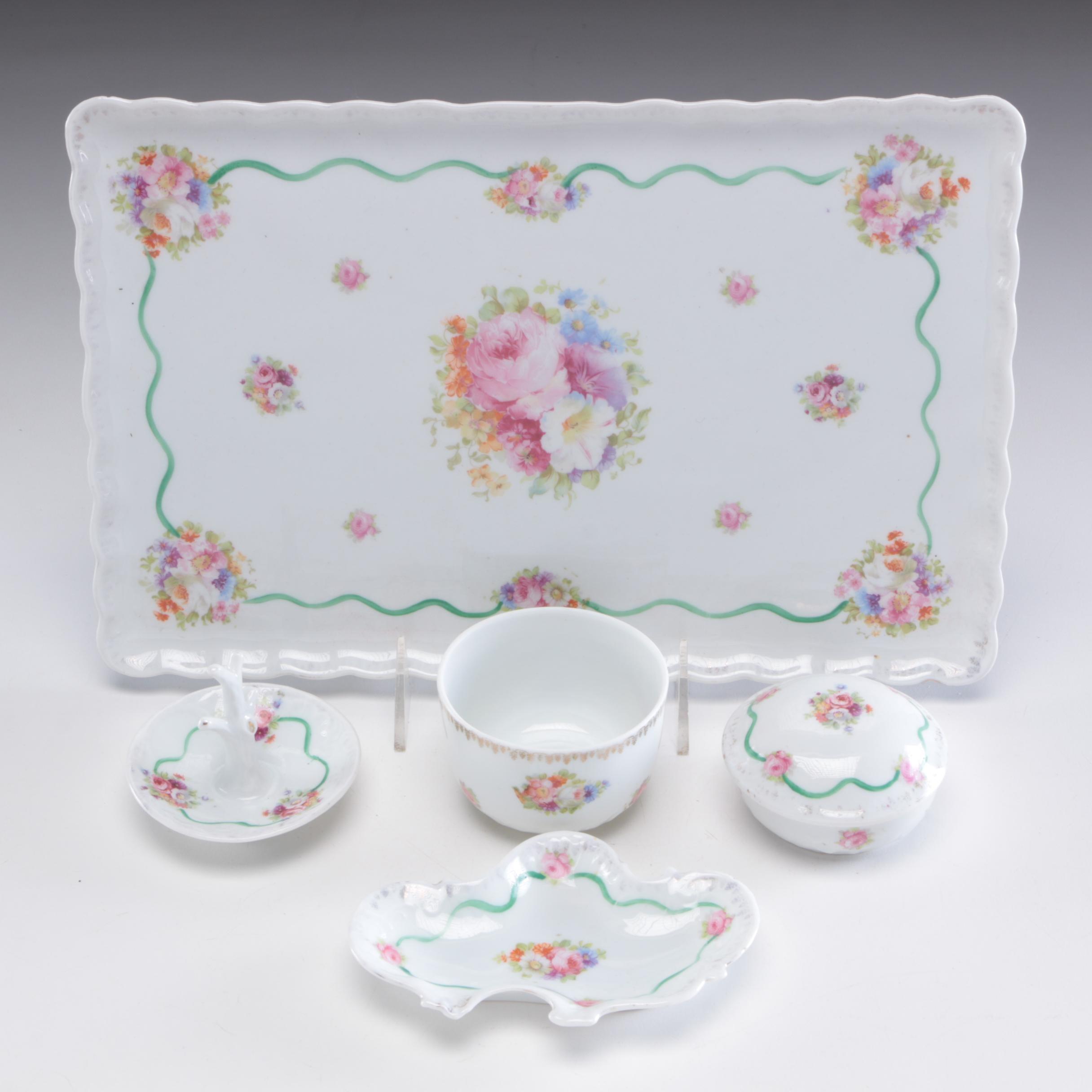 Victoria Austria Porcelain Serveware, Early to Mid 20th Century