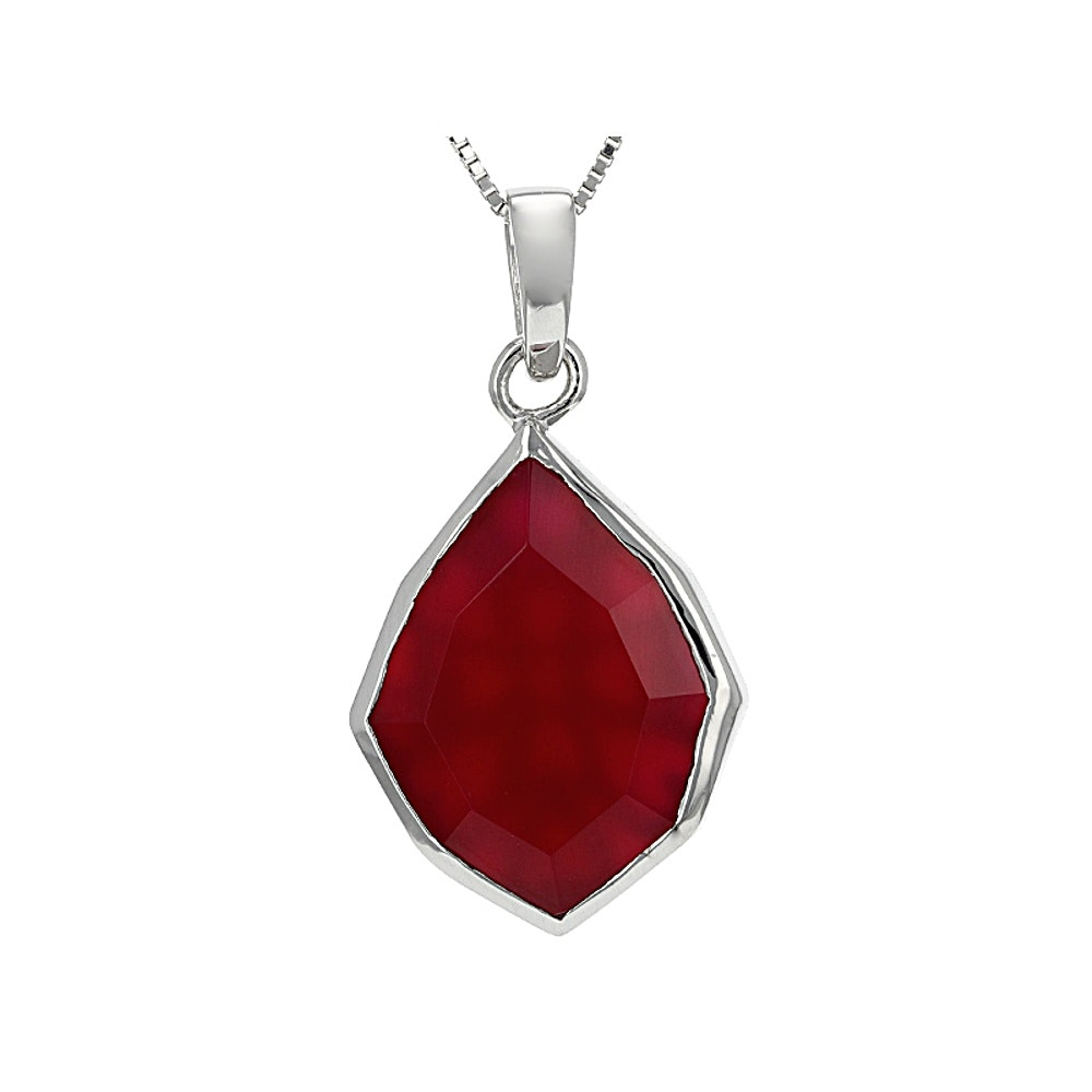 Sterling Silver Onyx Pendant with Chain