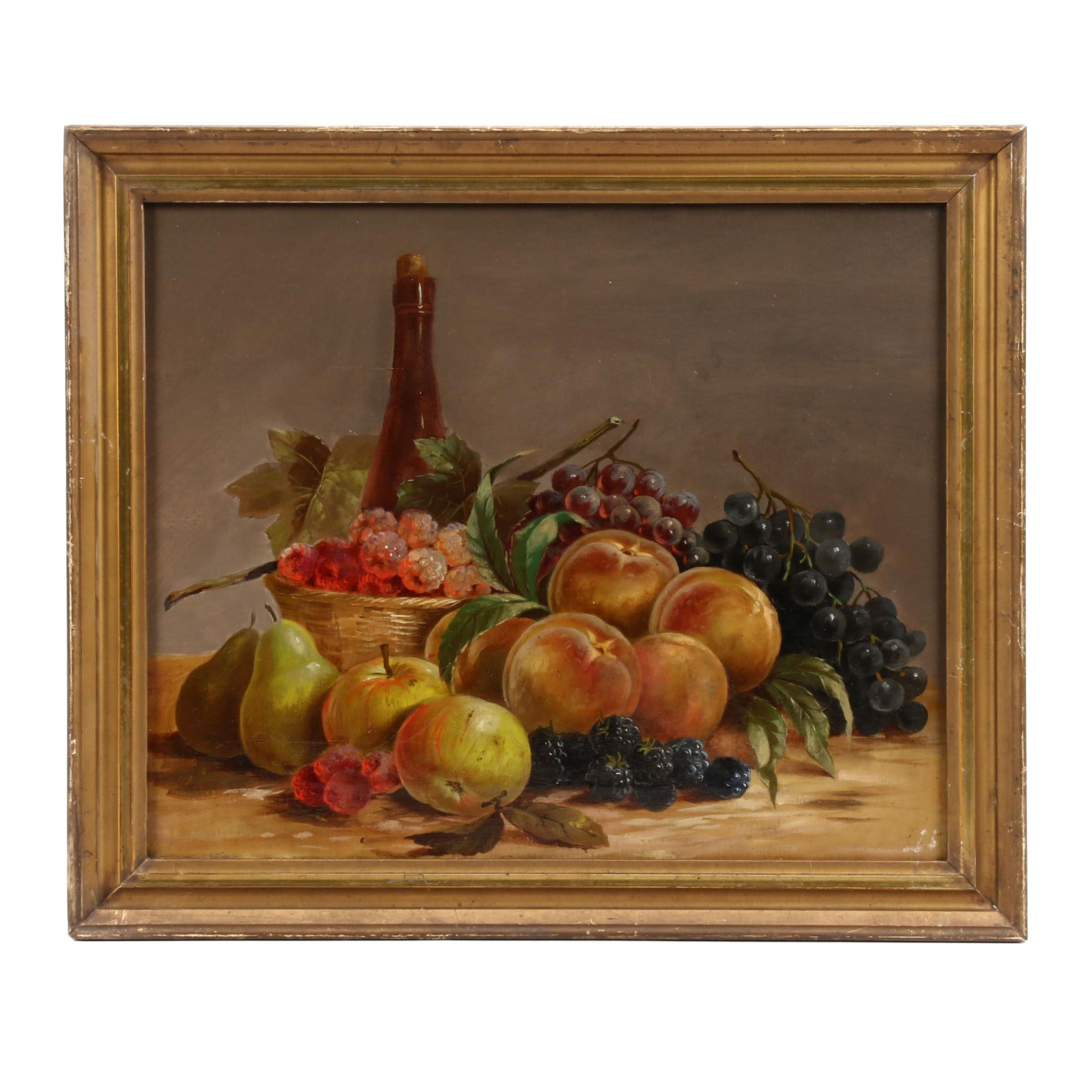 Late 19th Century Still Life Oil Painting