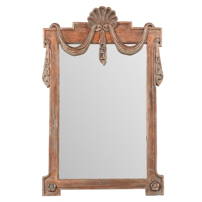 Ornately Carved Wooden Wall Mirror