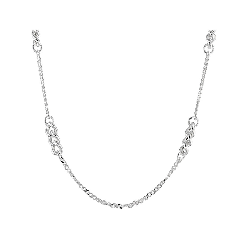 Sterling Silver Curb Link Chain