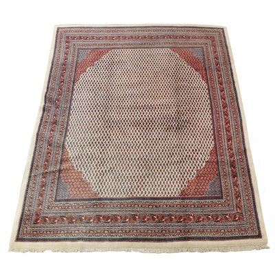 Hand Knotted Indo-Persian Mir Boteh Wool Area Rug