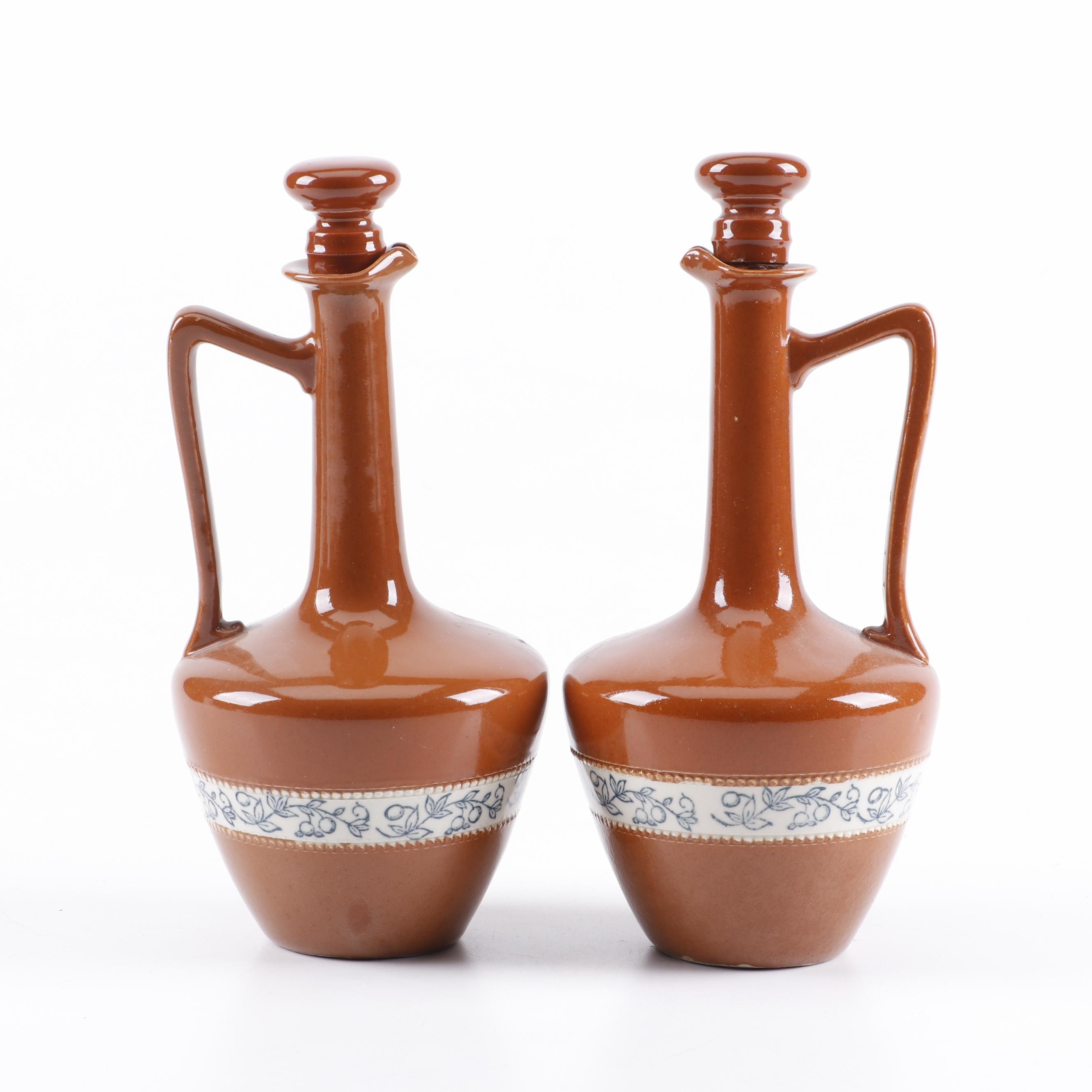 French P. Garnier Stoneware Liquor Bottles
