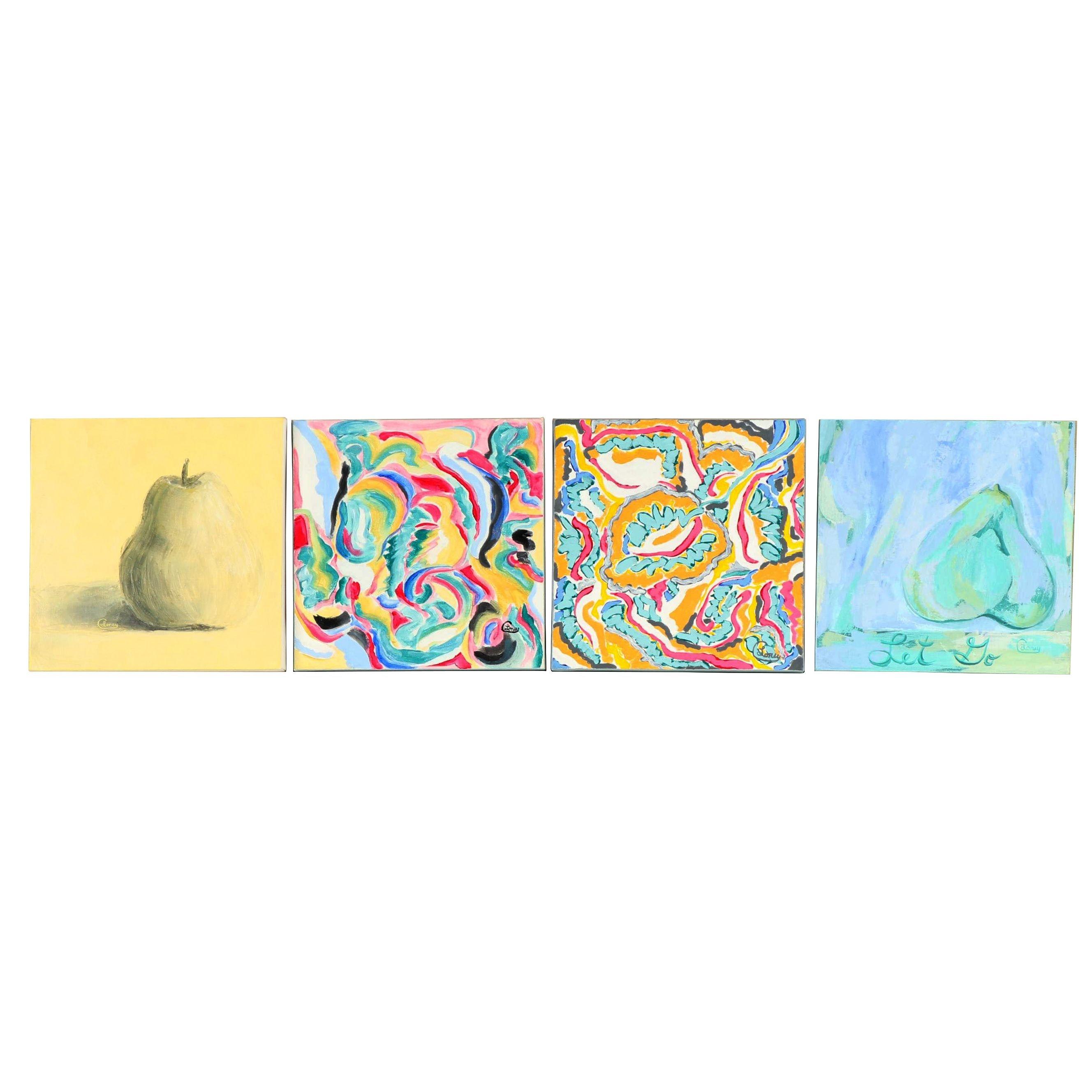Carol Loney Abstract Acrylic Paintings