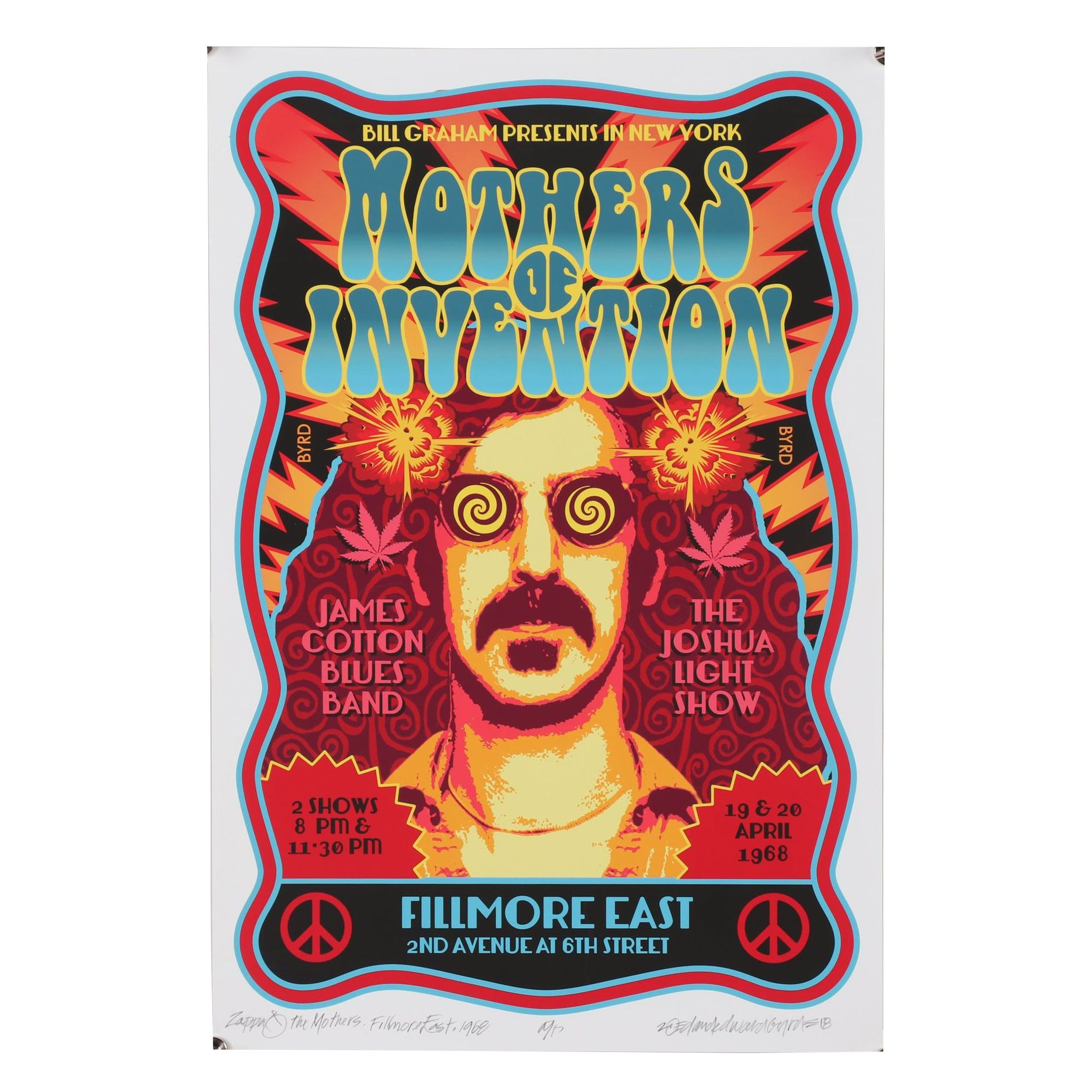 "David Edward Byrd Giclée ""The Mothers of Invention with Frank Zappa..."""