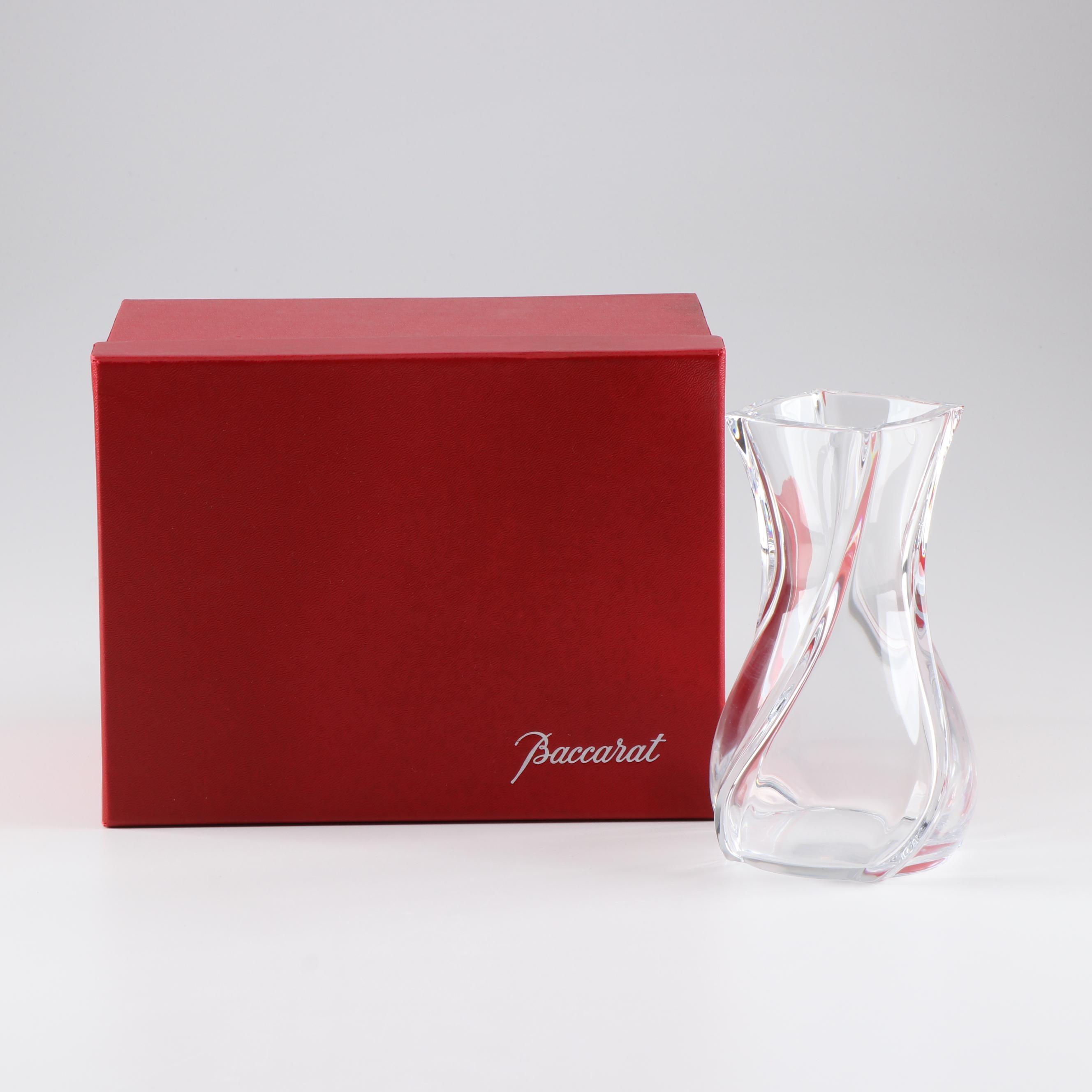 """Bacarrat """"Serpentin"""" Crystal Vase"""