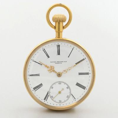 Antique Patek Philippe & Co.For C.S. Ball Syracuse N.Y. Open Face Pocket Watch