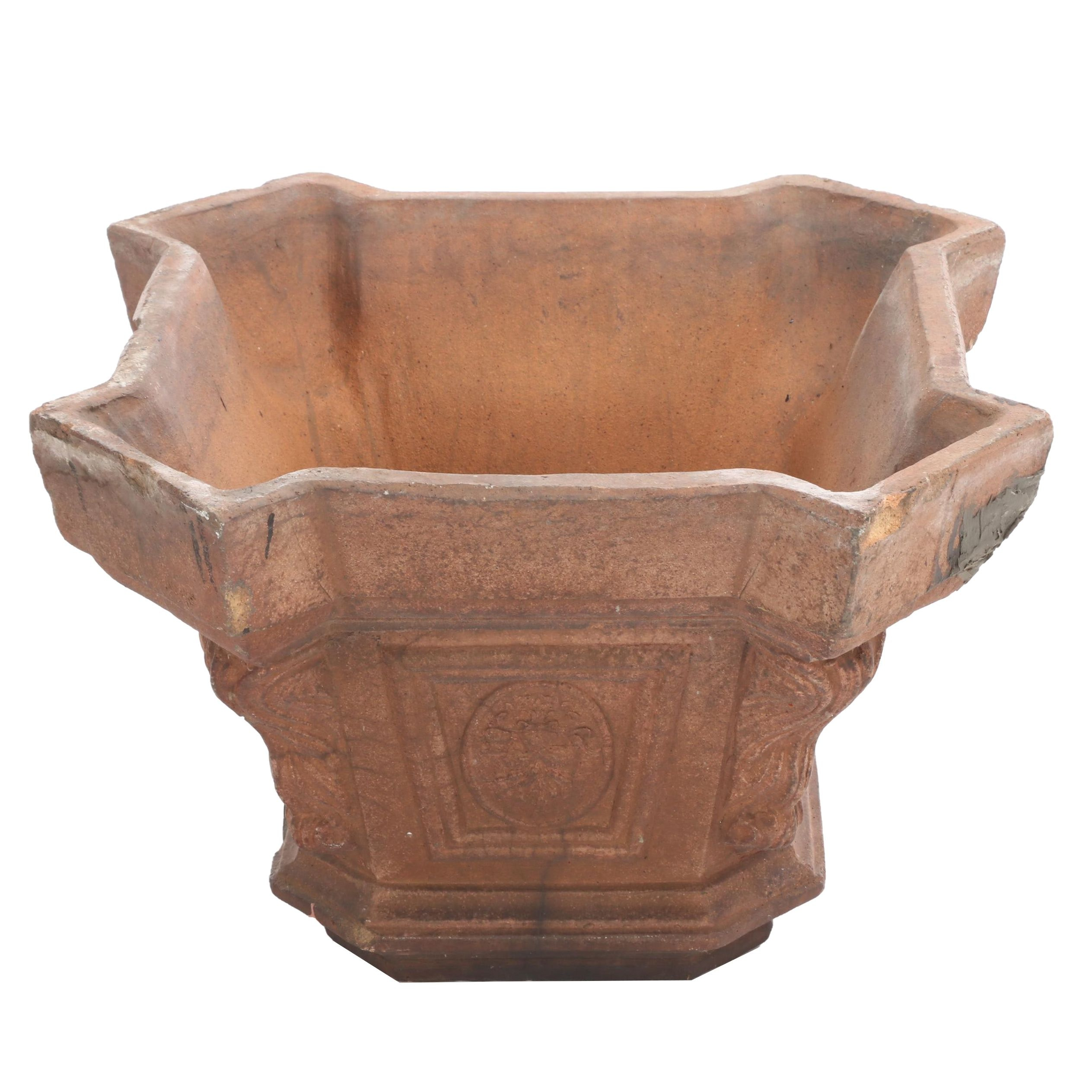 Neoclassical Style Cast Stone Capital Form Planter