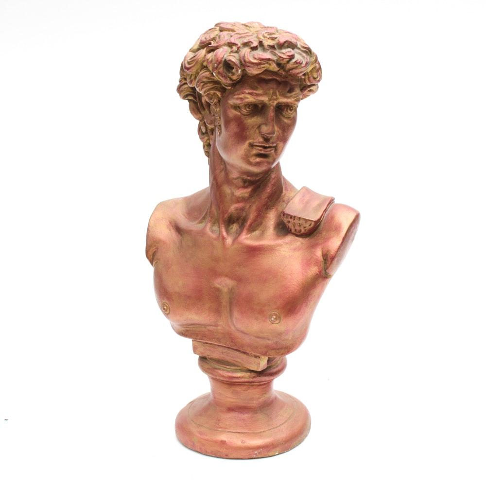 Plaster Bust After Michelangelo's David