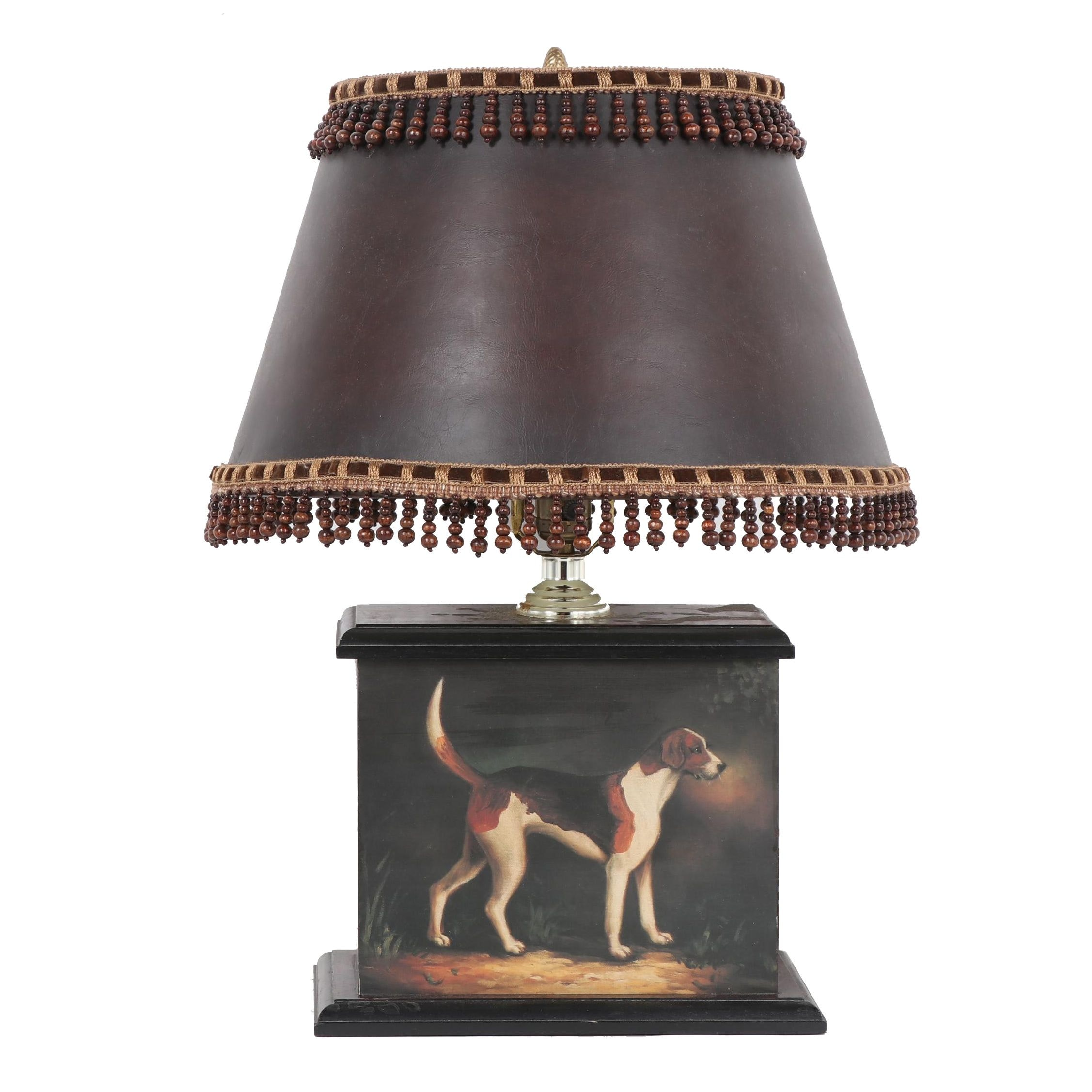 Decorative Hound Table Lamp