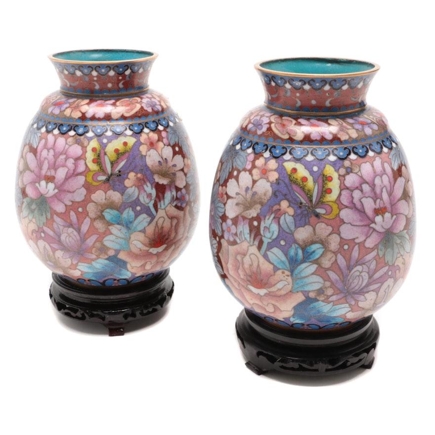 Pair of Cloisonné Vases